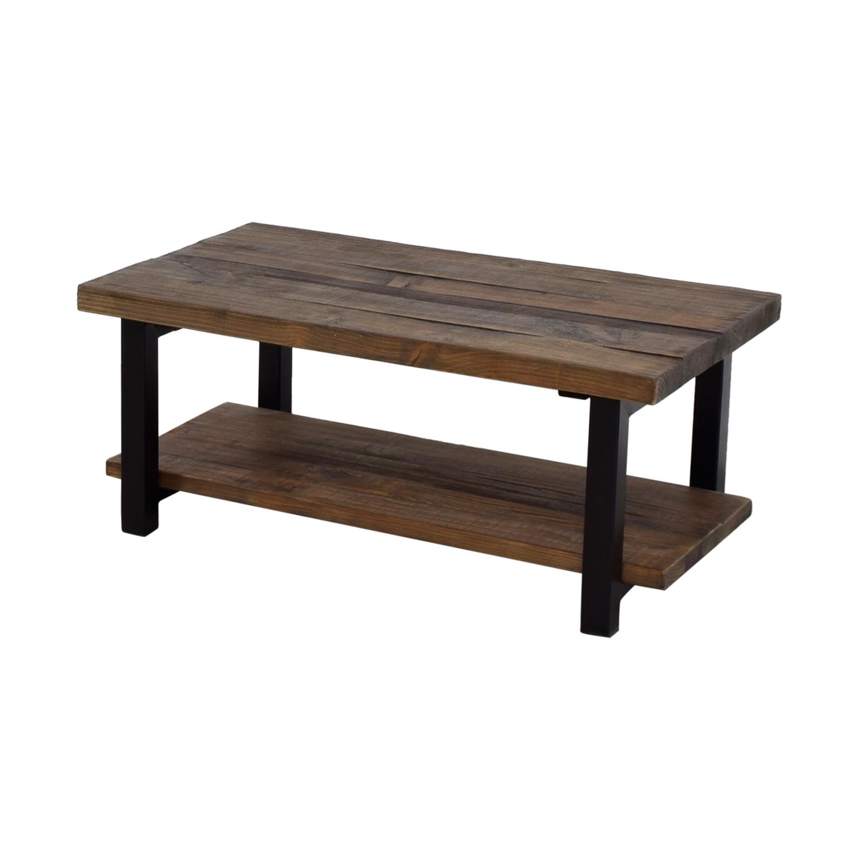 Awesome 72 Off Loon Peak Loon Peak Somers Wood And Metal Coffee Table Tables Ibusinesslaw Wood Chair Design Ideas Ibusinesslaworg
