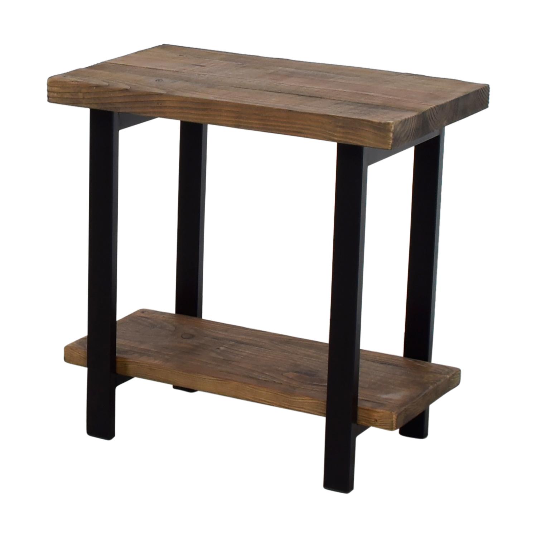 45 off loon peak loon peak somers wood and metal end table tables. Black Bedroom Furniture Sets. Home Design Ideas
