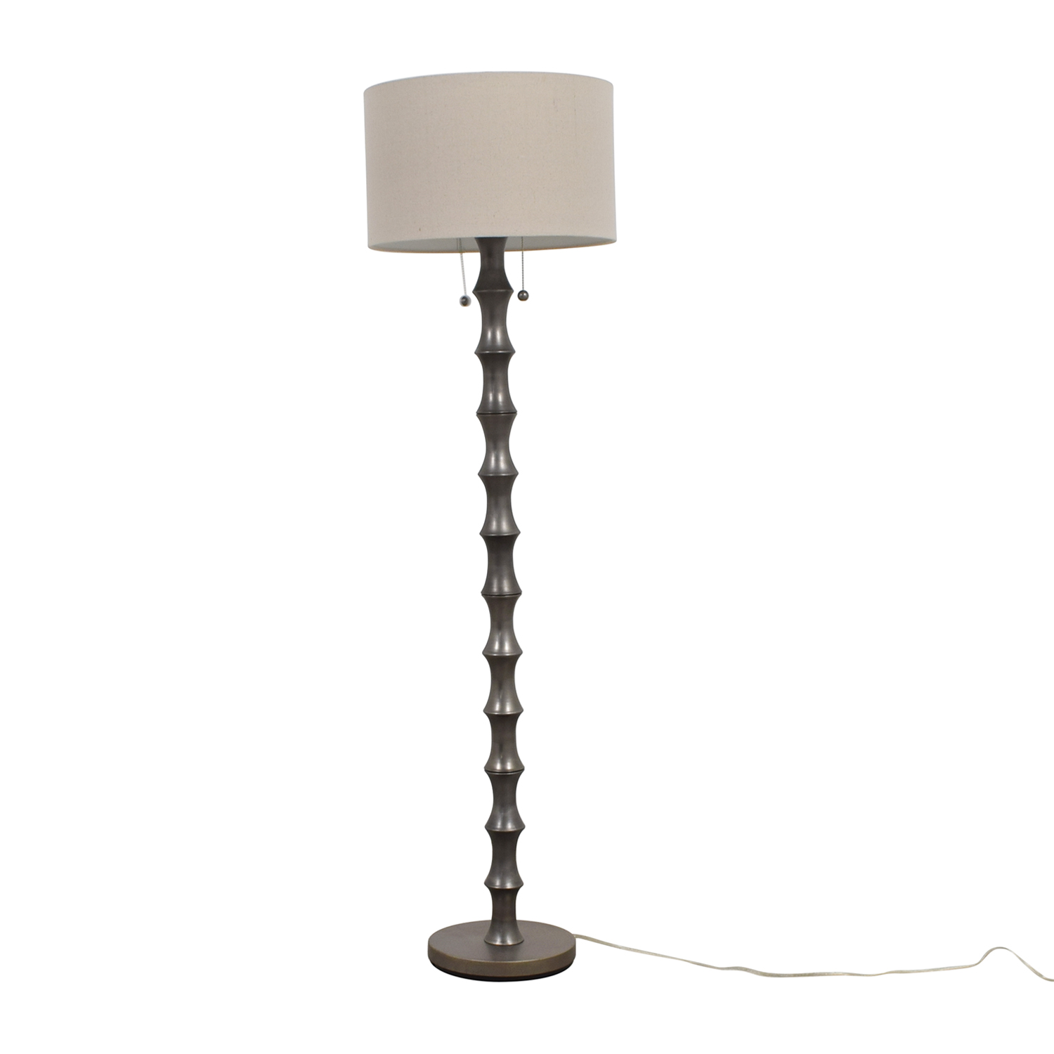 Tan and Silver Floor Lamp second hand