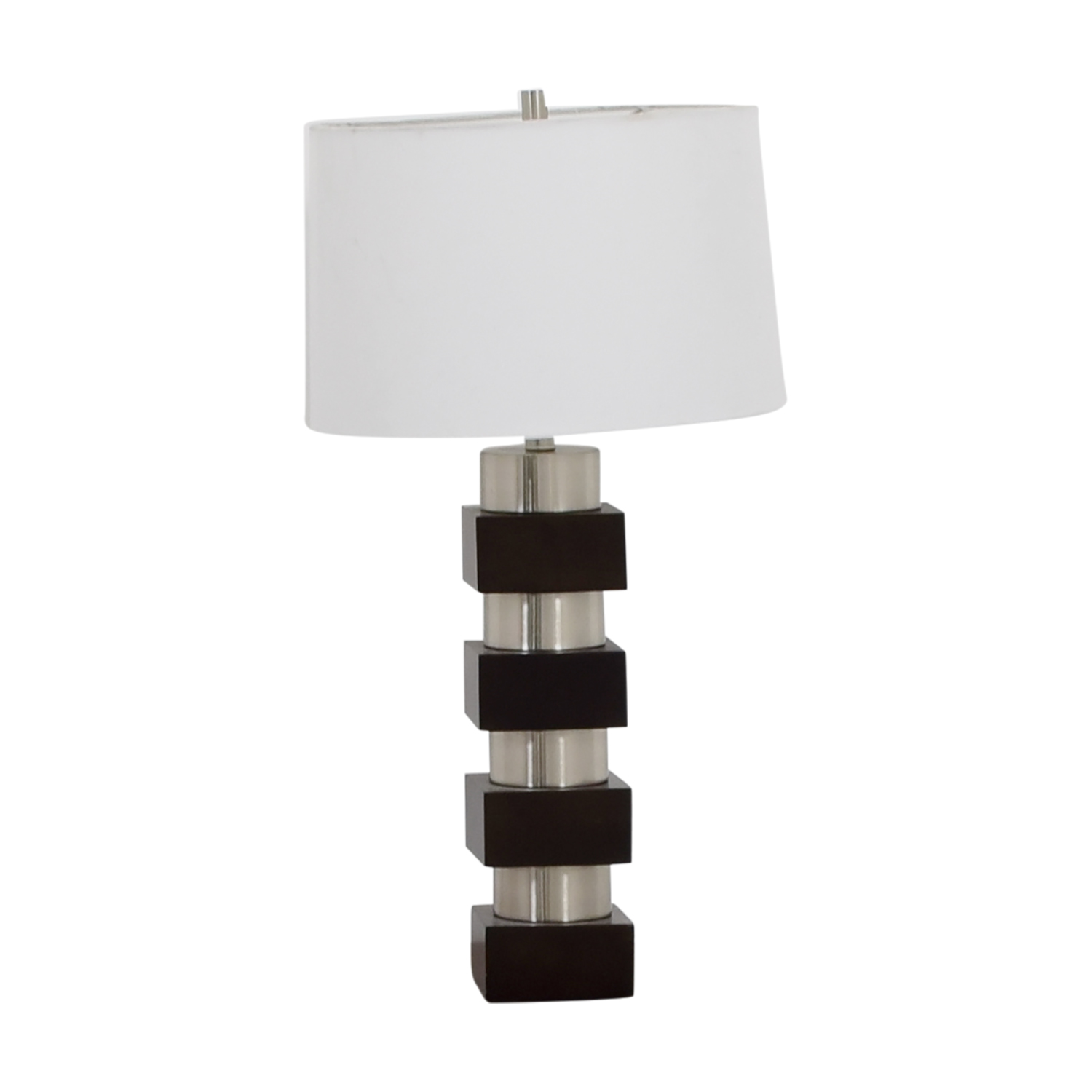 Black Silver and White Table Lamp coupon