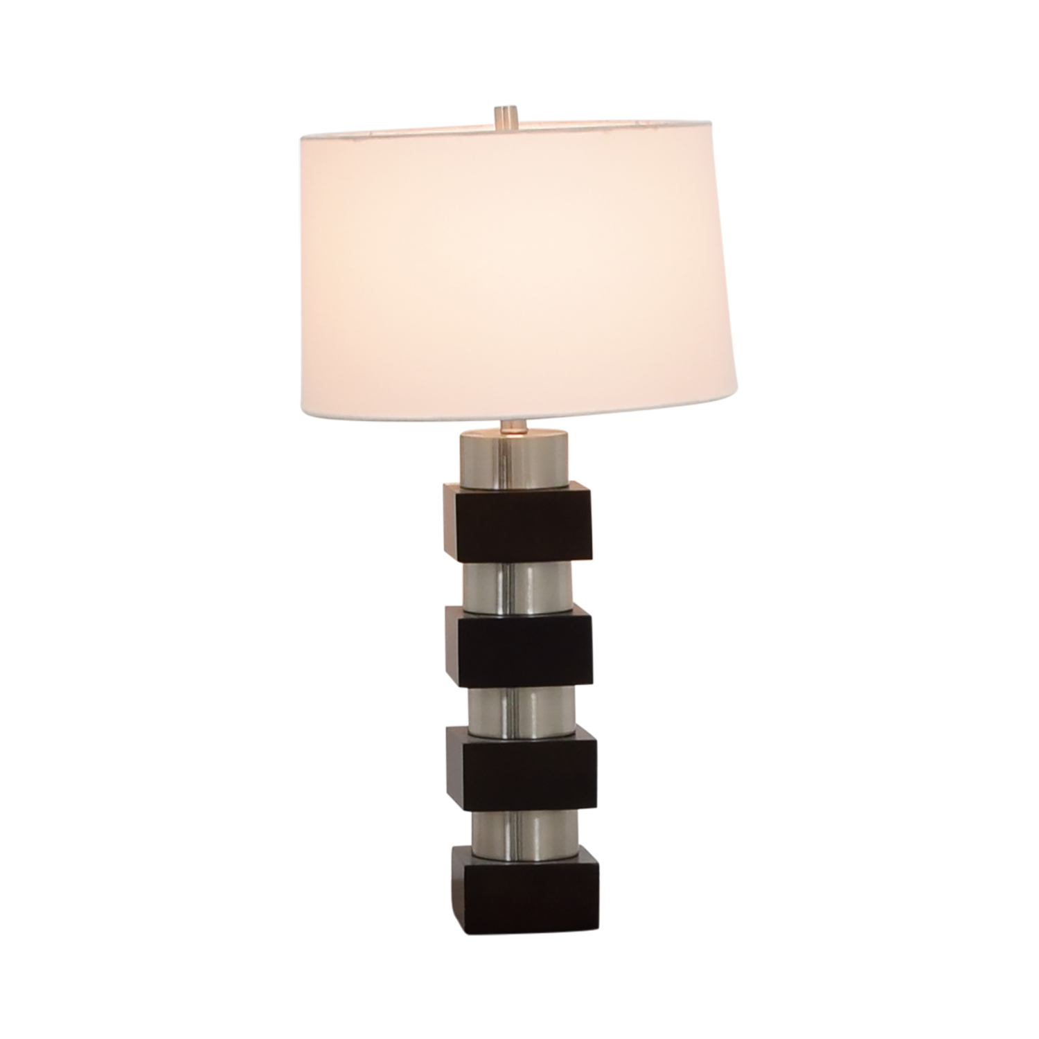 ... Buy Black Silver And White Table Lamp Online ...