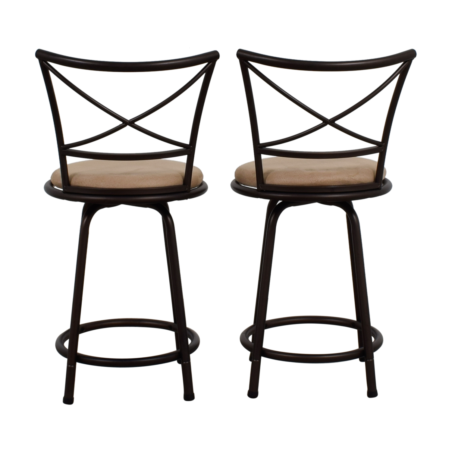 Big Lots Big Lots Tan Cushioned Swivel Barstools price