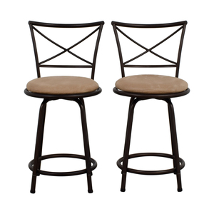 Big Lots Big Lots Tan Cushioned Swivel Barstools discount