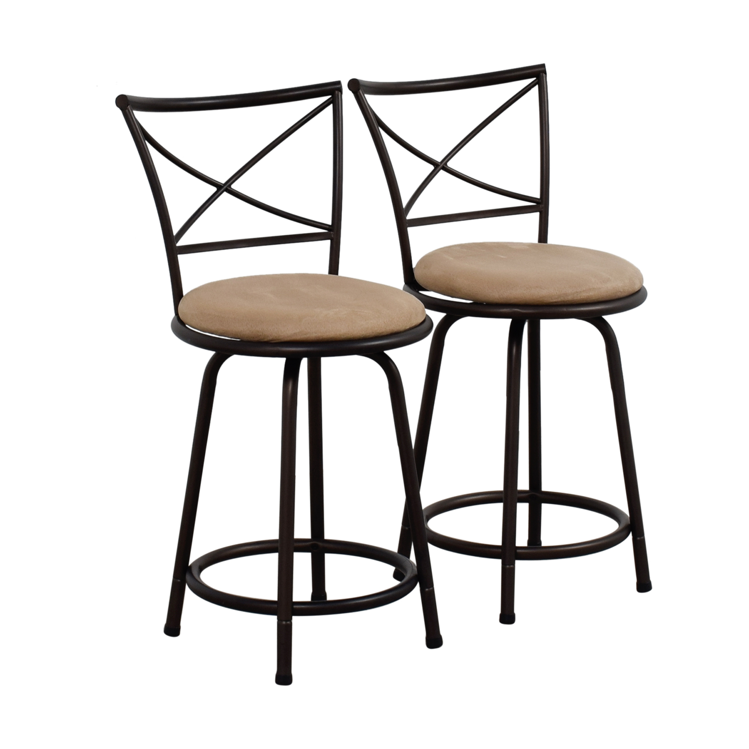 Big Lots Dining Room Chairs: Big Lots Big Lots Tan Cushioned Swivel Barstools / Chairs