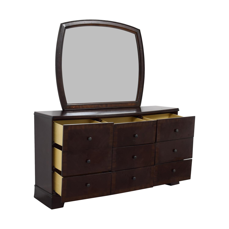 Ashley Furniture Six-Drawer Dresser with Mirror / Storage