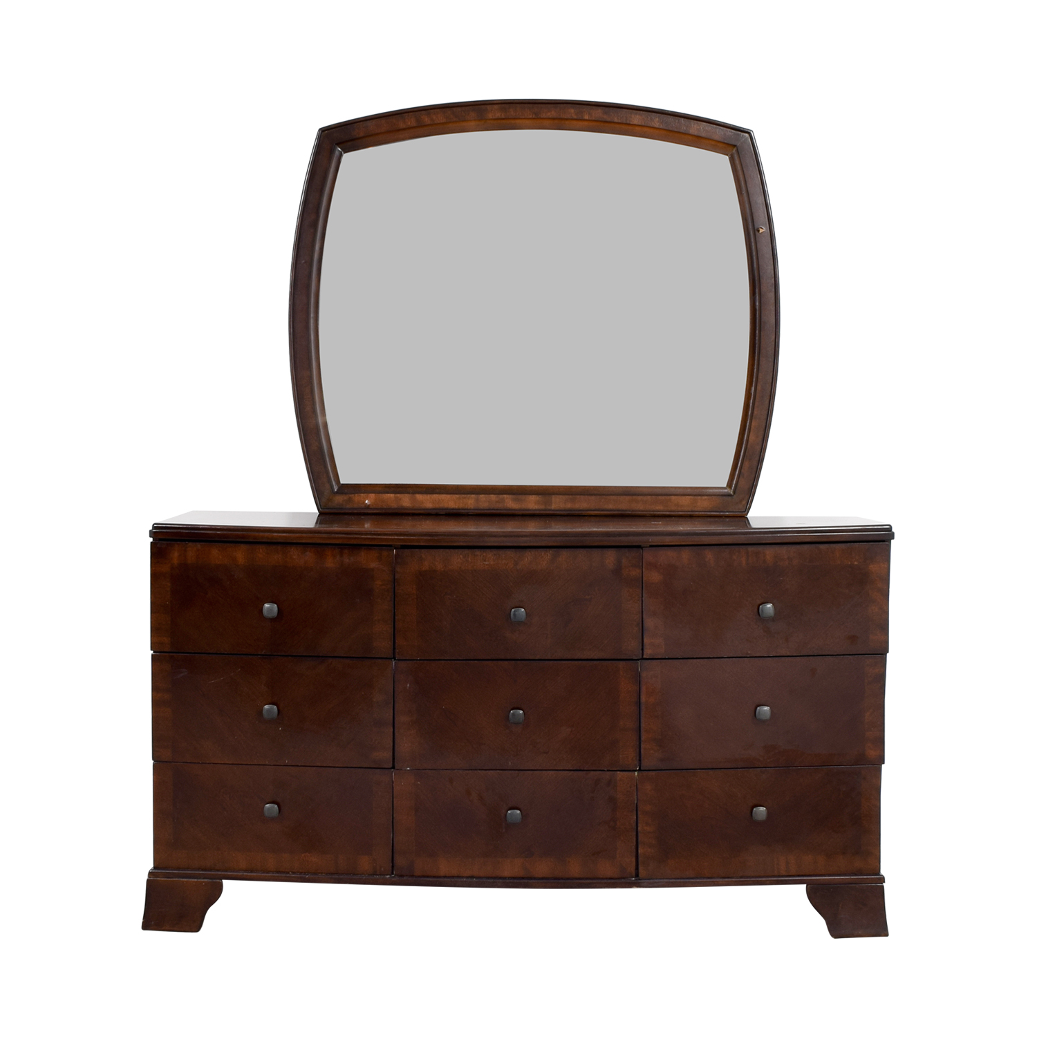 Ashley Furniture Six-Drawer Dresser with Mirror sale