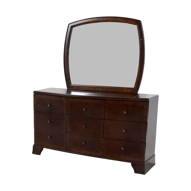 Ashley Furniture Ashley Furniture Six-Drawer Dresser with Mirror Storage