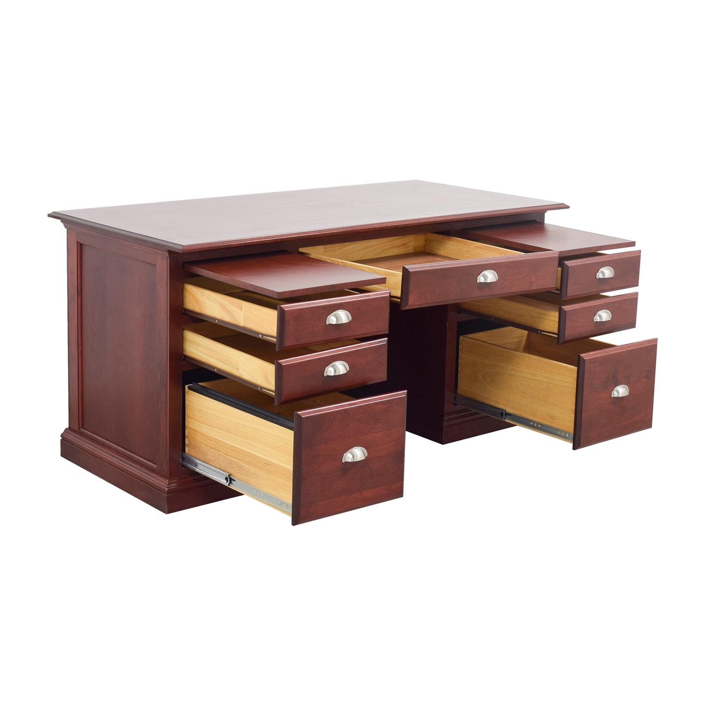 buy Woodcraft Custom Cherry Executive Desk Woodcraft Tables