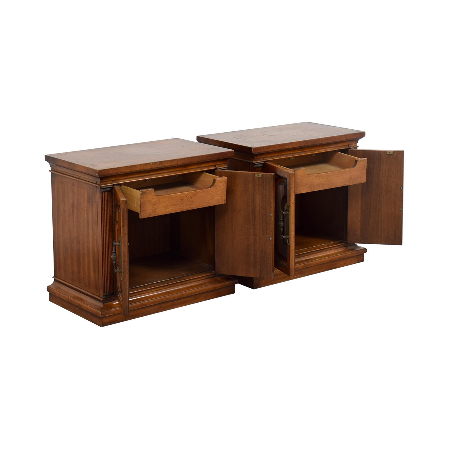 Single Interior Drawer And Storage Night Stands Nj