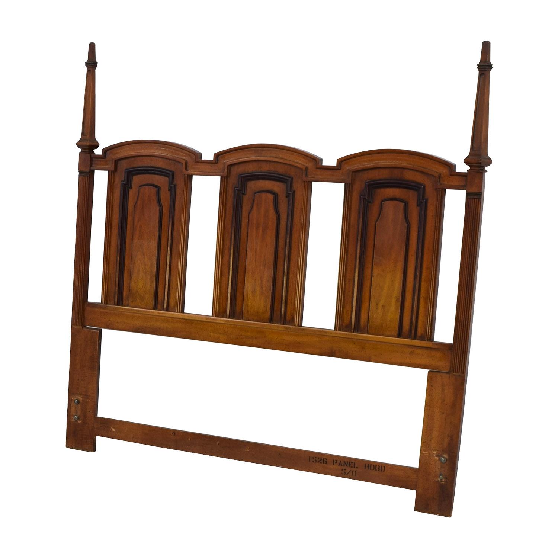 87 Off Triple Wood Queen Headboard Beds