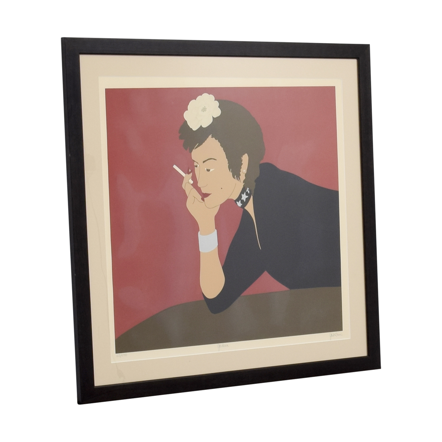 Gail Bruce Smoking Woman Framed Print sale