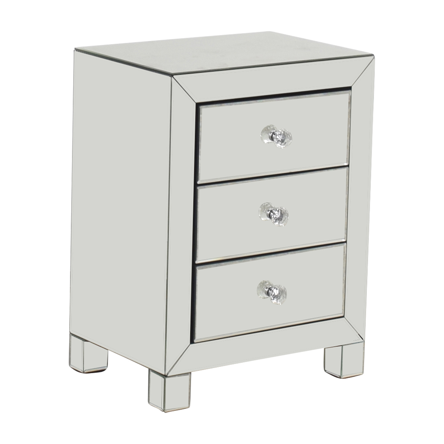 44 off target target three drawer mirrored nightstand 12426 | target three drawer mirrored nightstand second hand