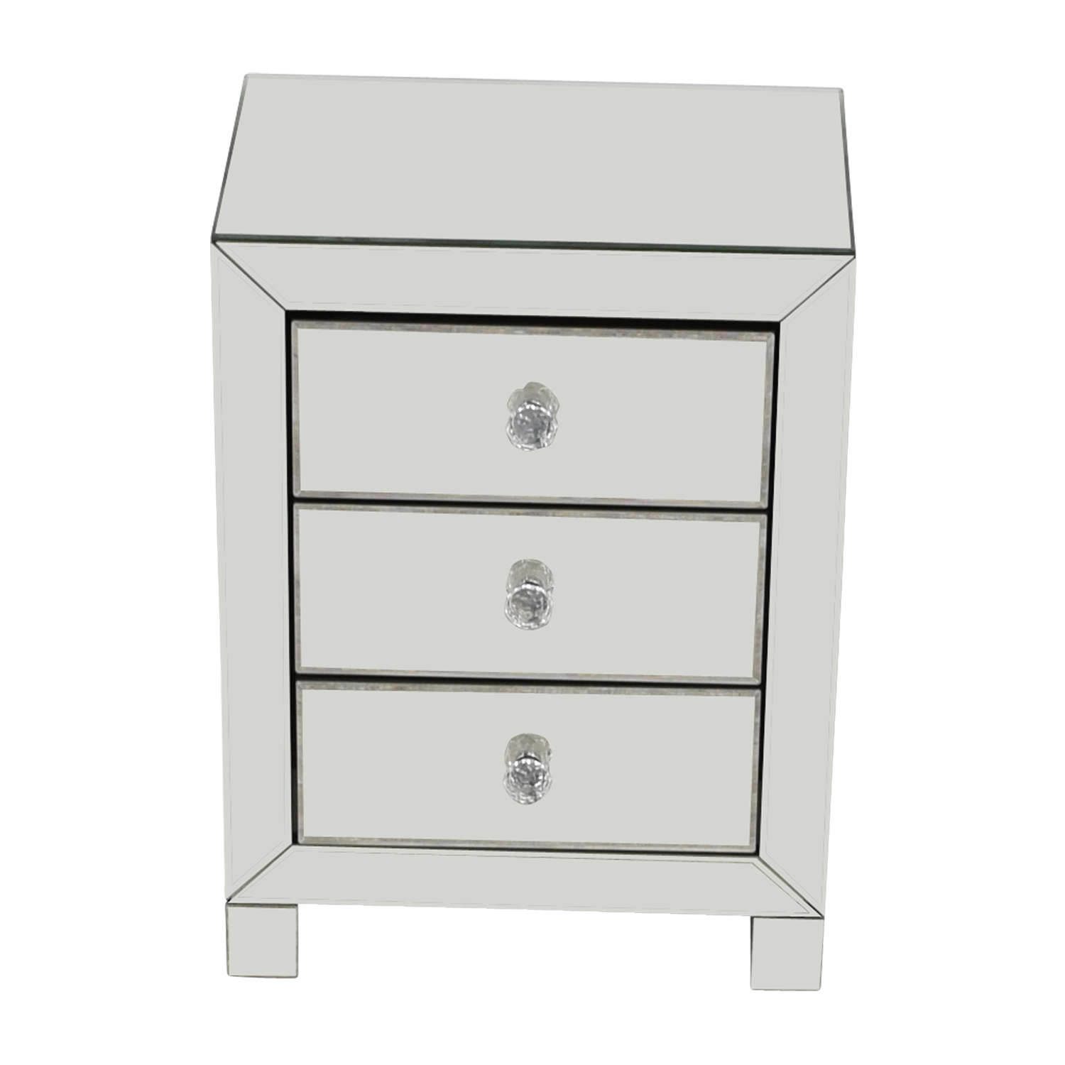 Target Target Three-Drawer Mirrored Nightstand GLASS