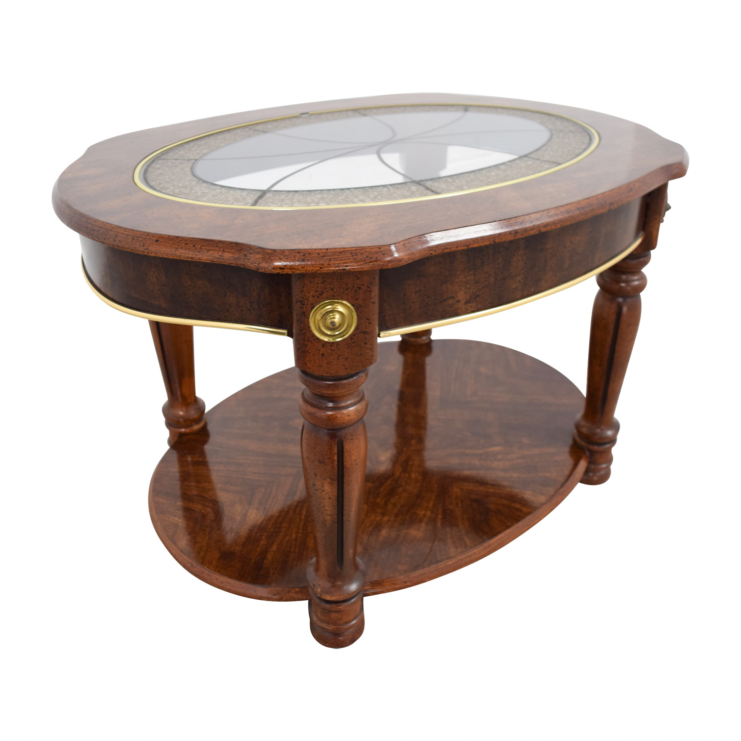 85 off vintage small round coffee table tables. Black Bedroom Furniture Sets. Home Design Ideas