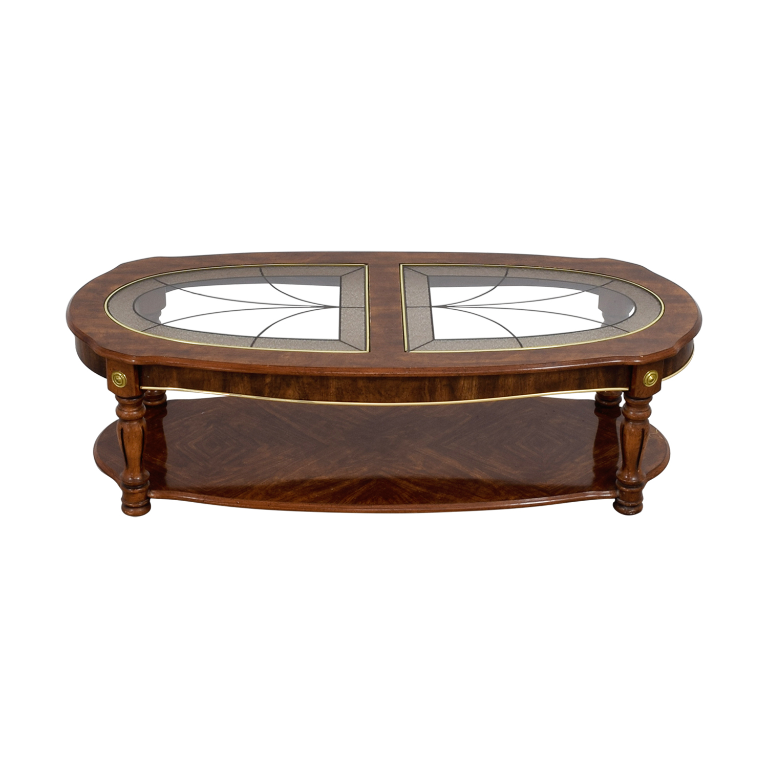 Vintage Large Oval Coffee Table / Tables