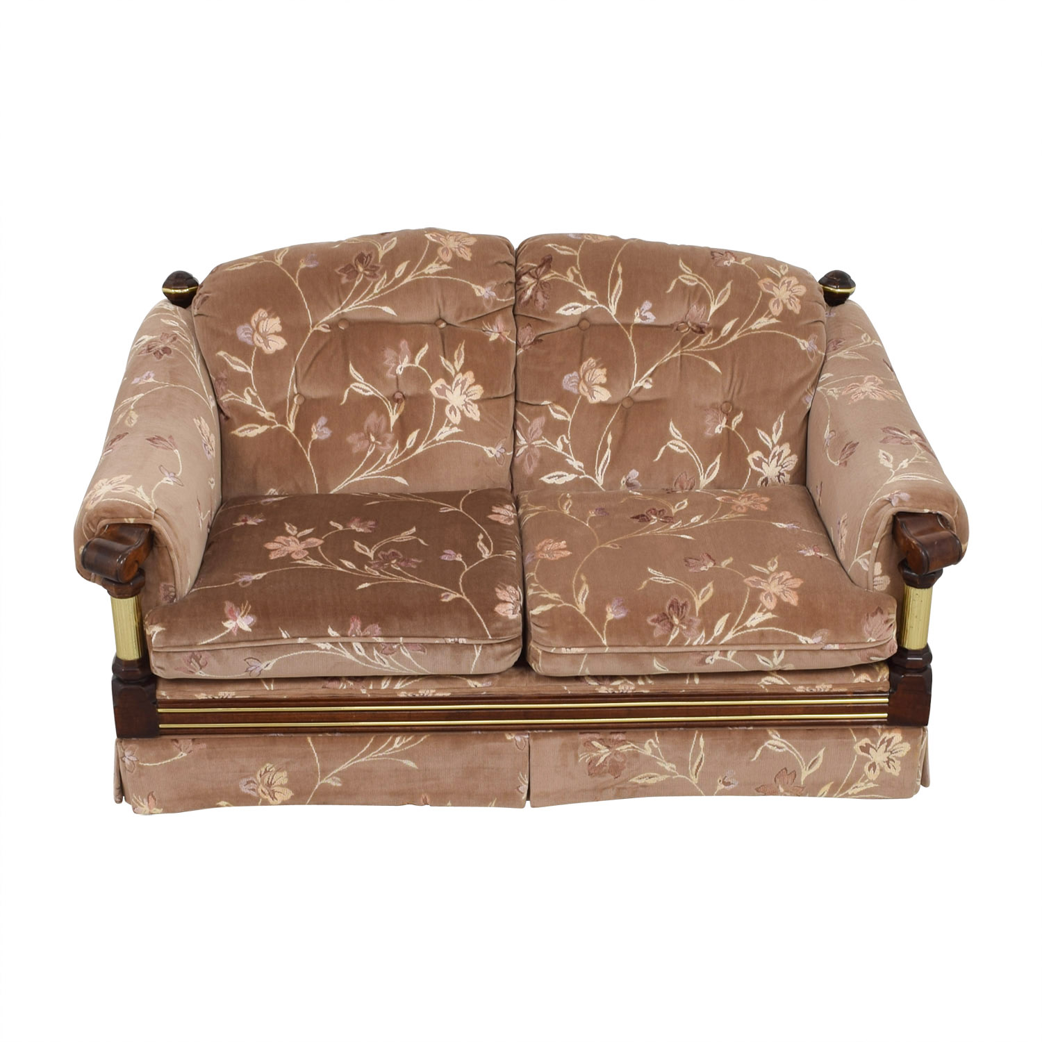 Floral Tufted Loveseat used