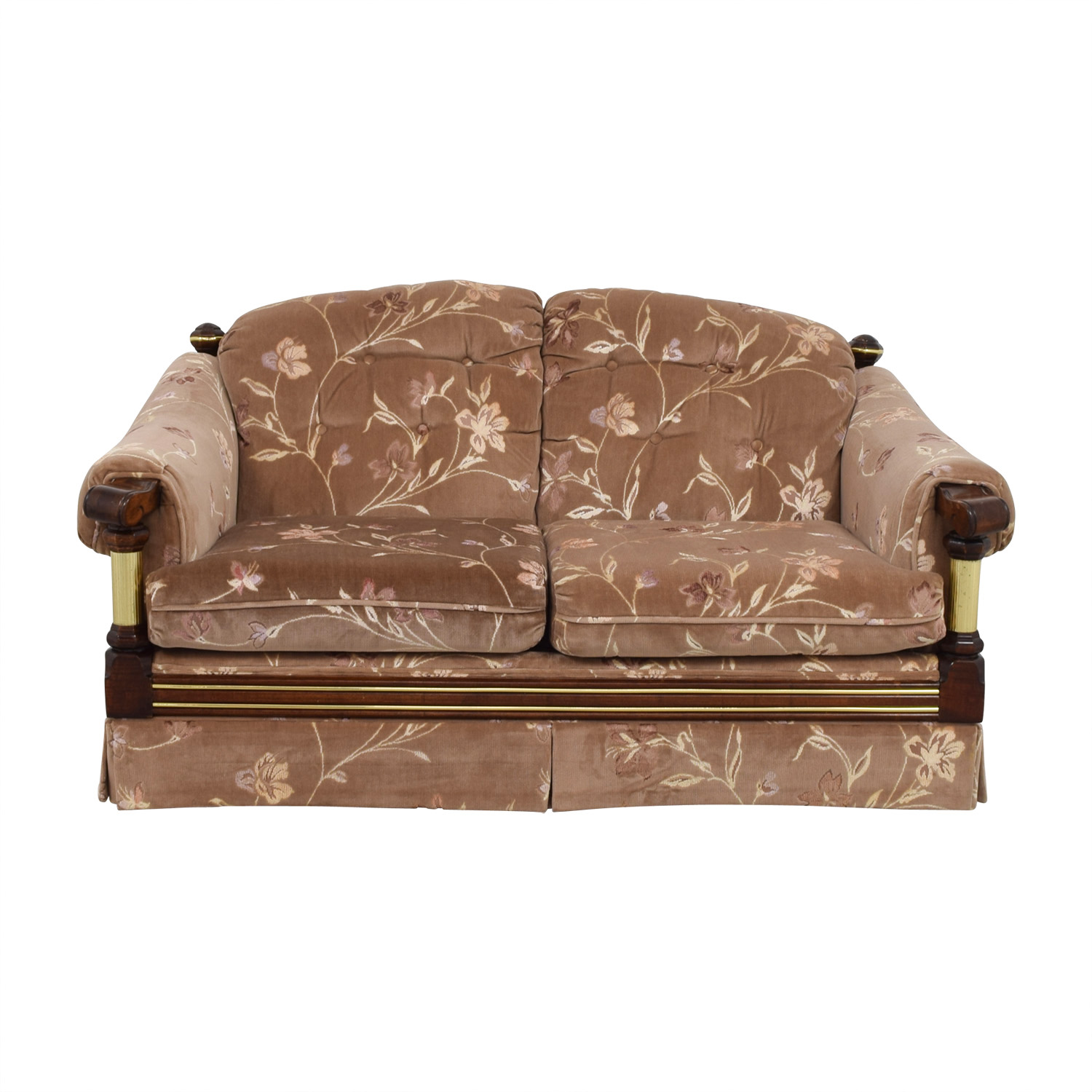 Floral Tufted Loveseat
