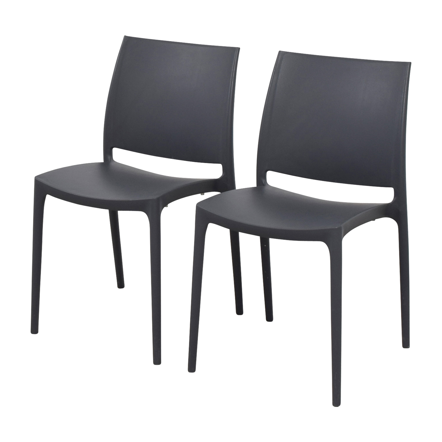 77 Off Grey Molded Plastic Chairs Chairs