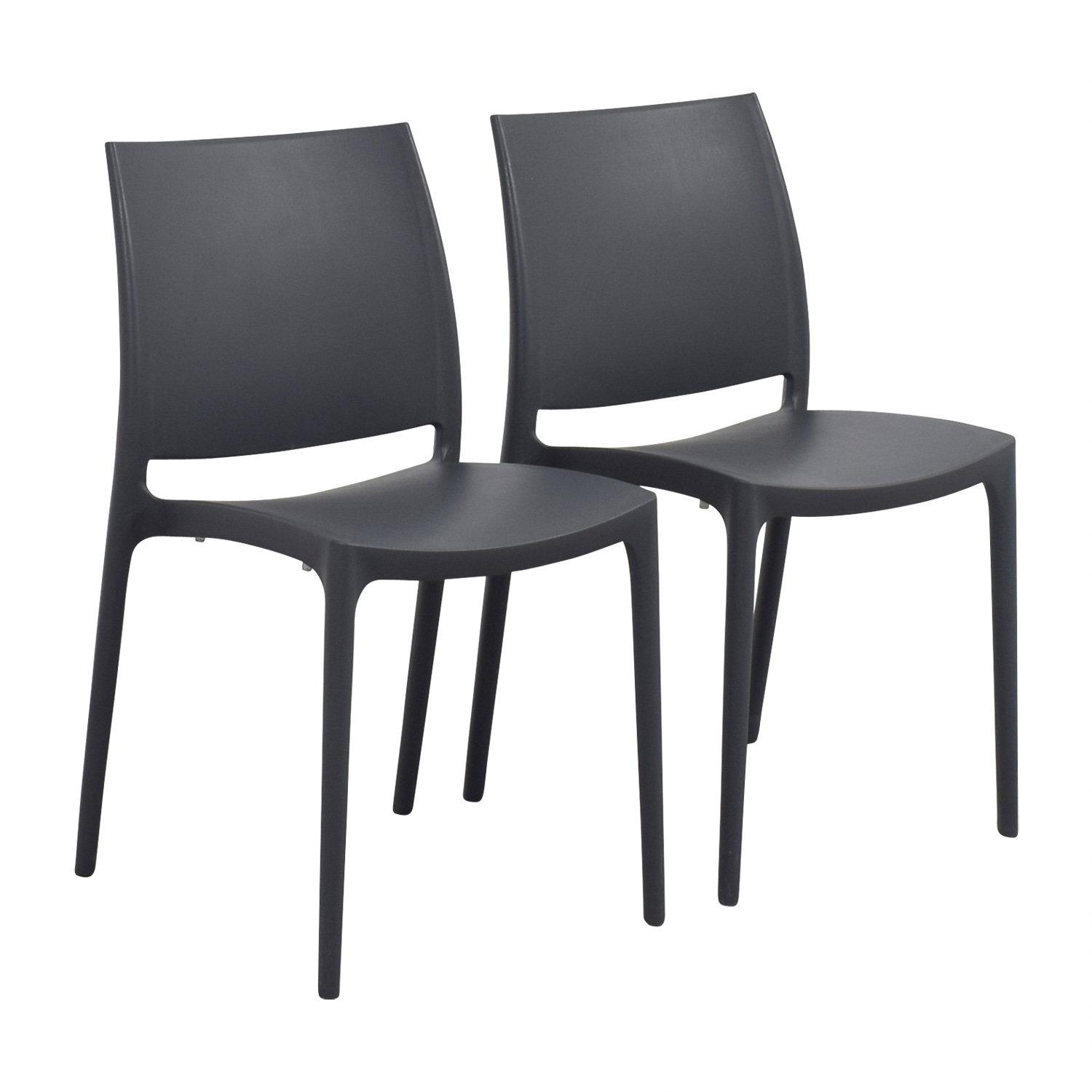 Black plastic chairs chairs seating for Black plastic dining chairs