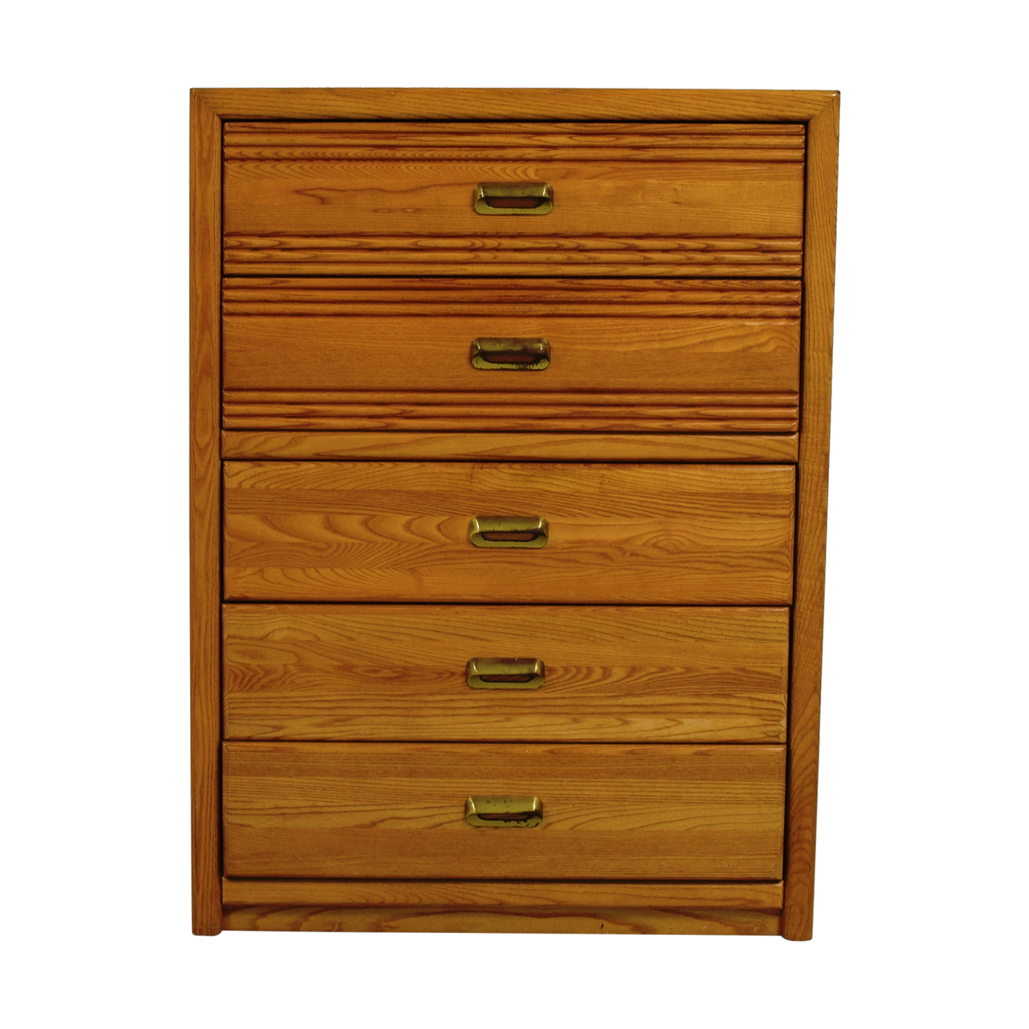 Stanley Furniture Stanley Furniture Five-Drawer Oak Dresser Storage