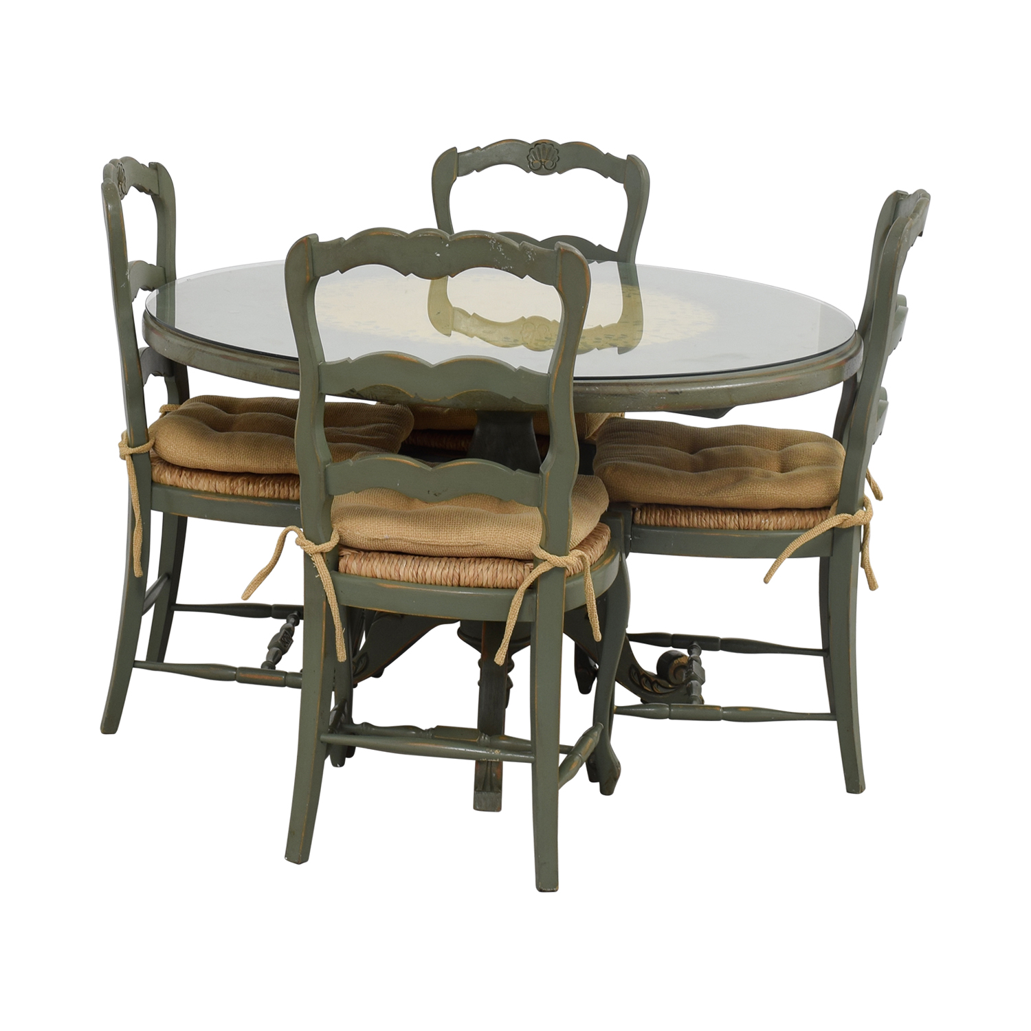 Hand Painted Country Style Kitchen Table And