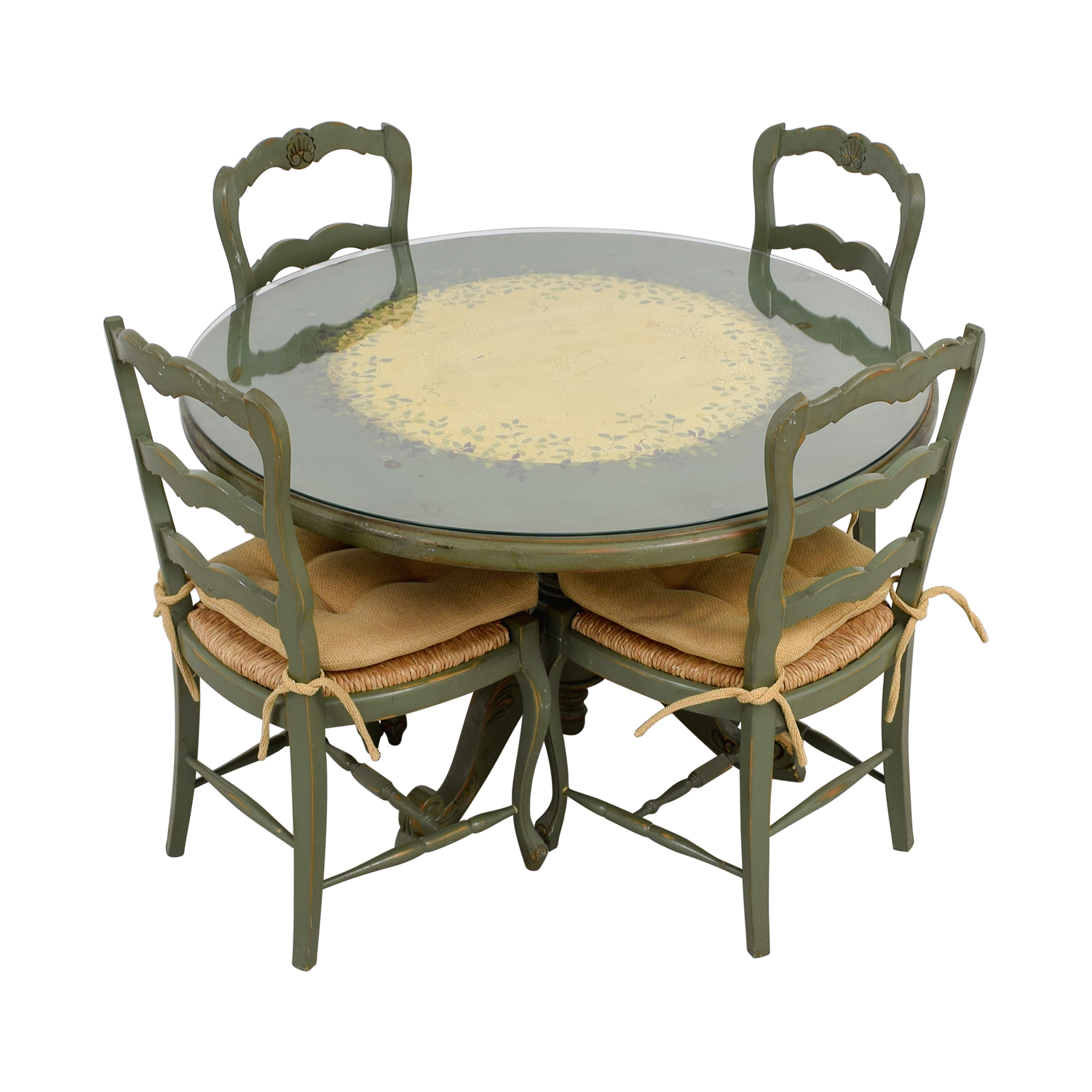 buy Hand Painted Country Style Kitchen Table and Chairs Dining Sets
