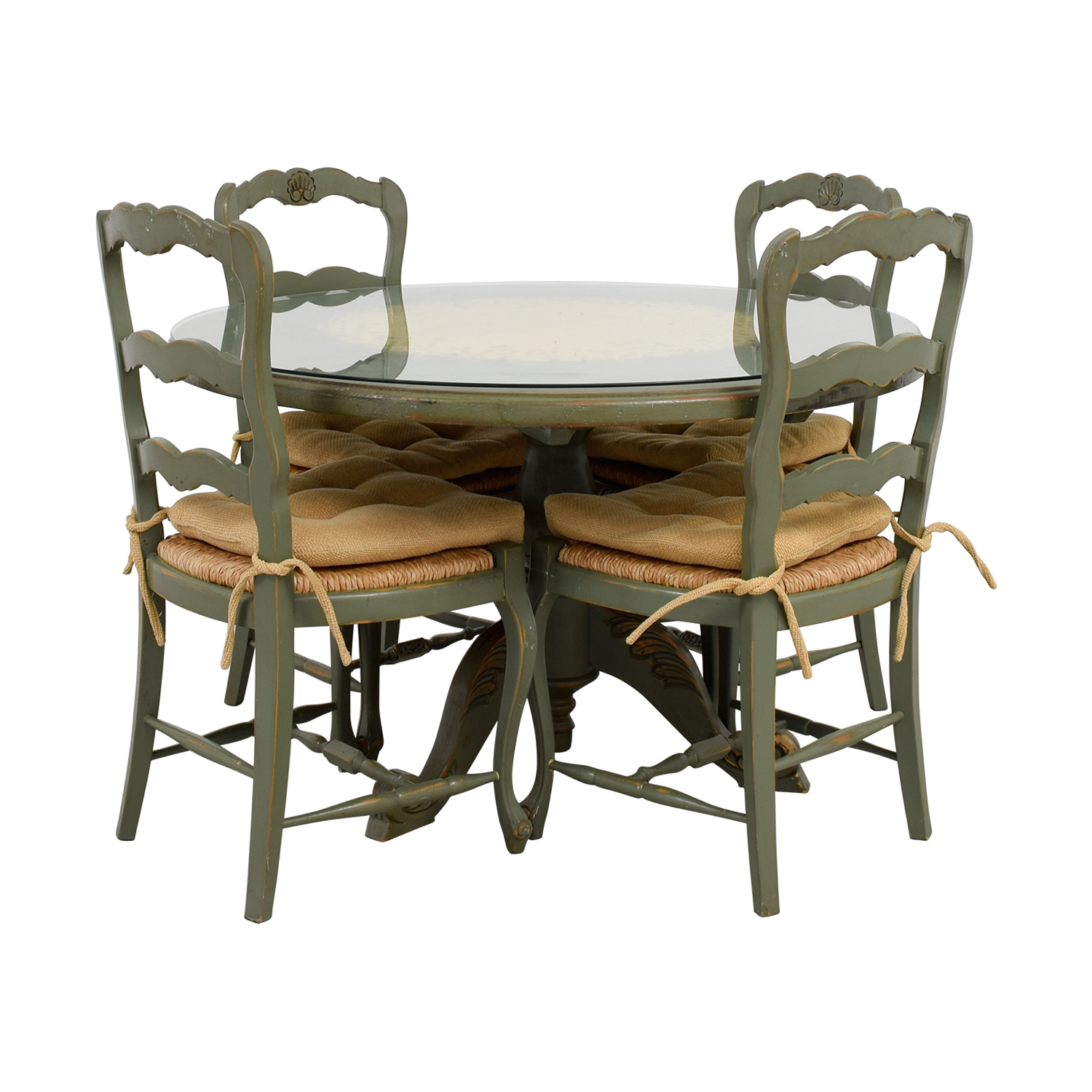 Hand Painted Country Style Kitchen Table and Chairs Tables
