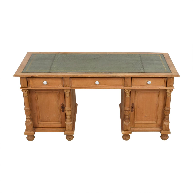 shop Vintage Wooden Desk; Vintage Wooden Desk ... - 47% OFF - Vintage Wooden Desk / Tables