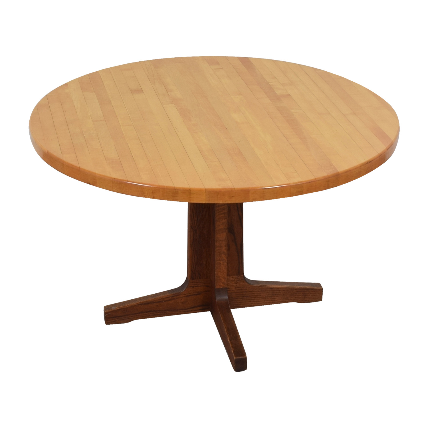 67% OFF - Butcher Block Furniture The Butcher Block Round Wood Table /  Tables