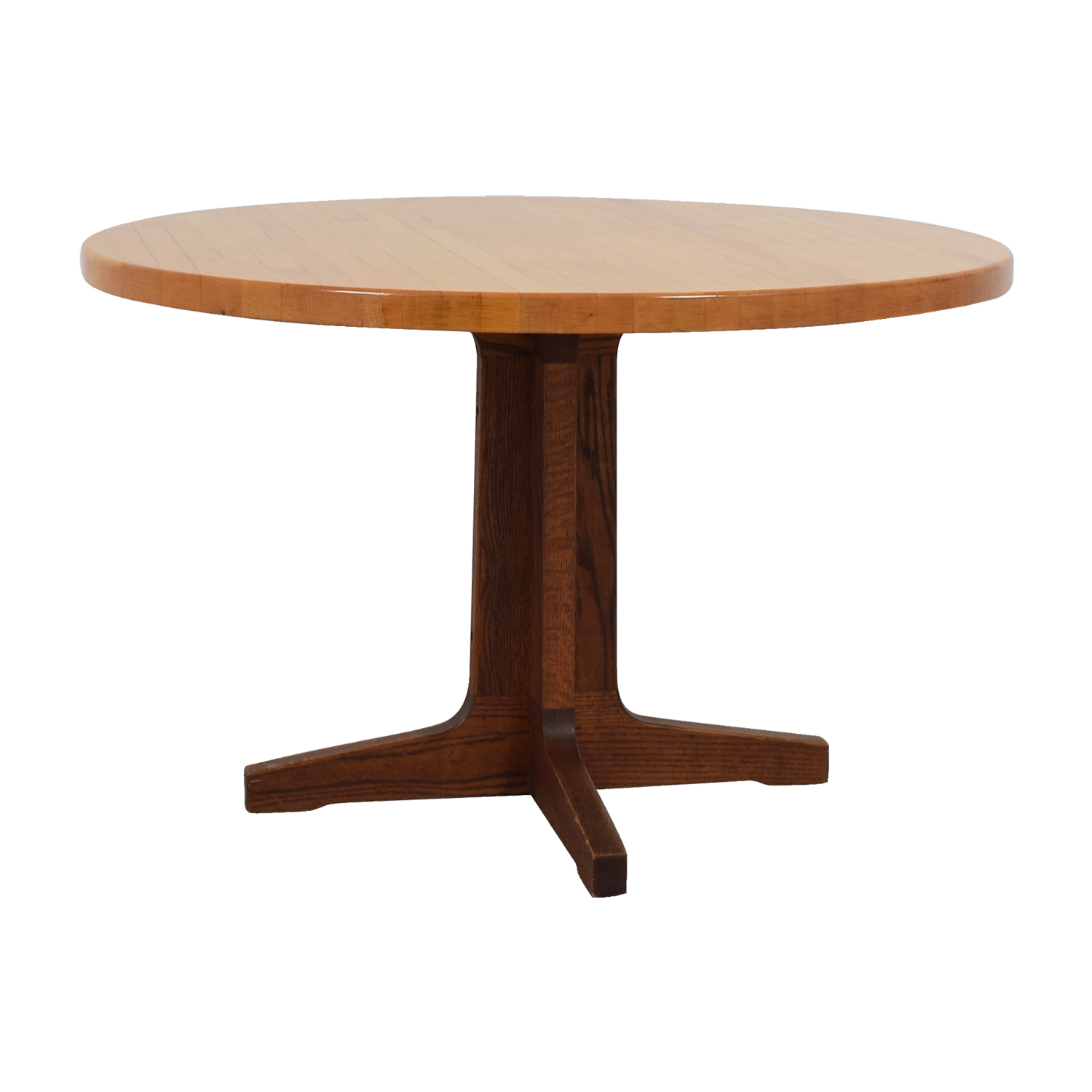 The Butcher Block Round Wood Table Used