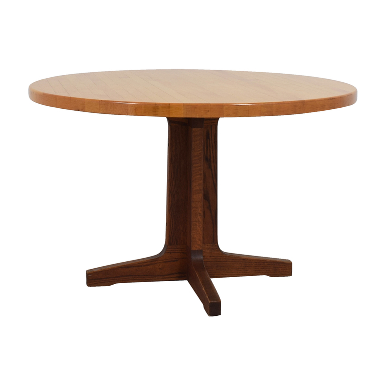 The Butcher Block Round Wood Table The Butcher Block