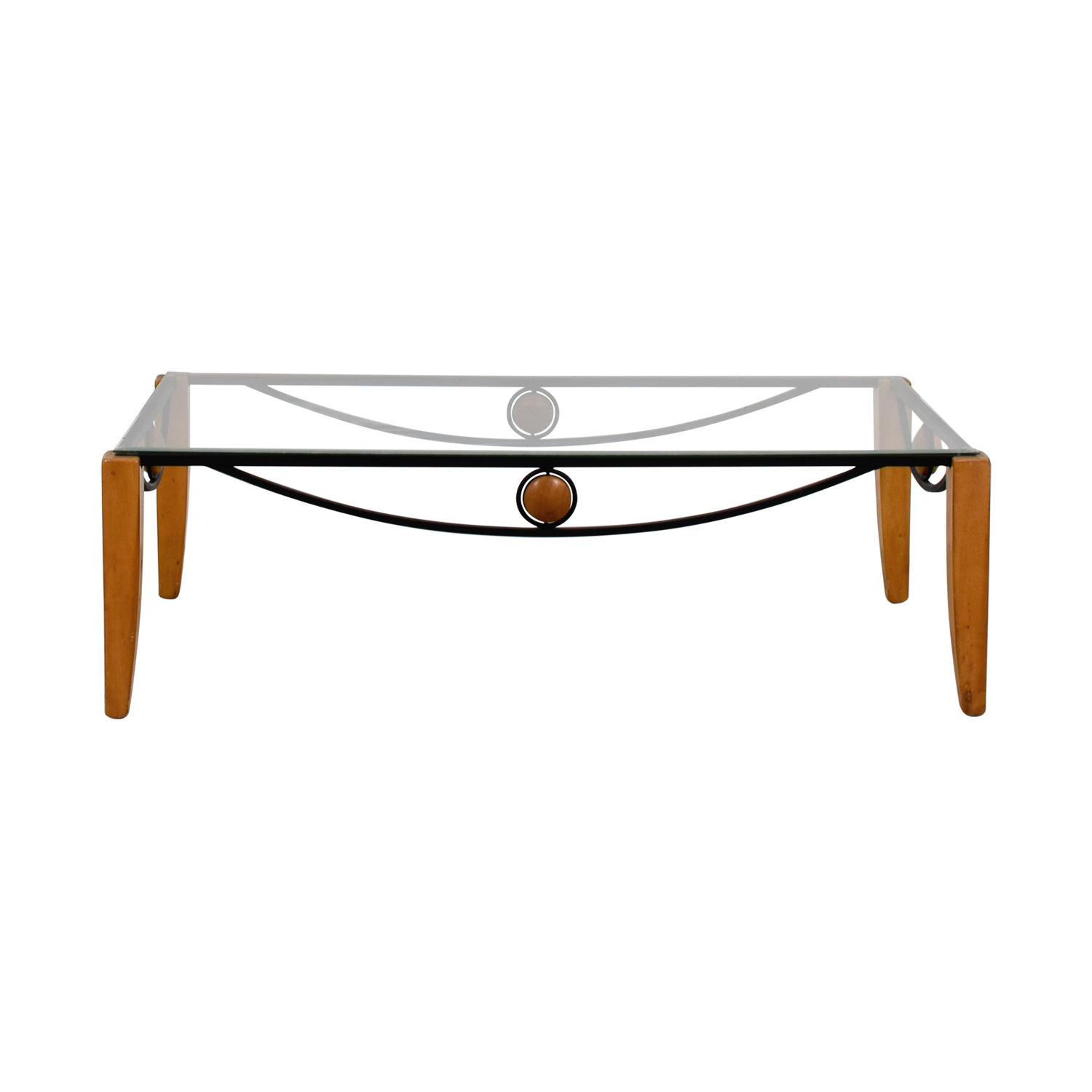 Metal and Wood Coffee Table Tables