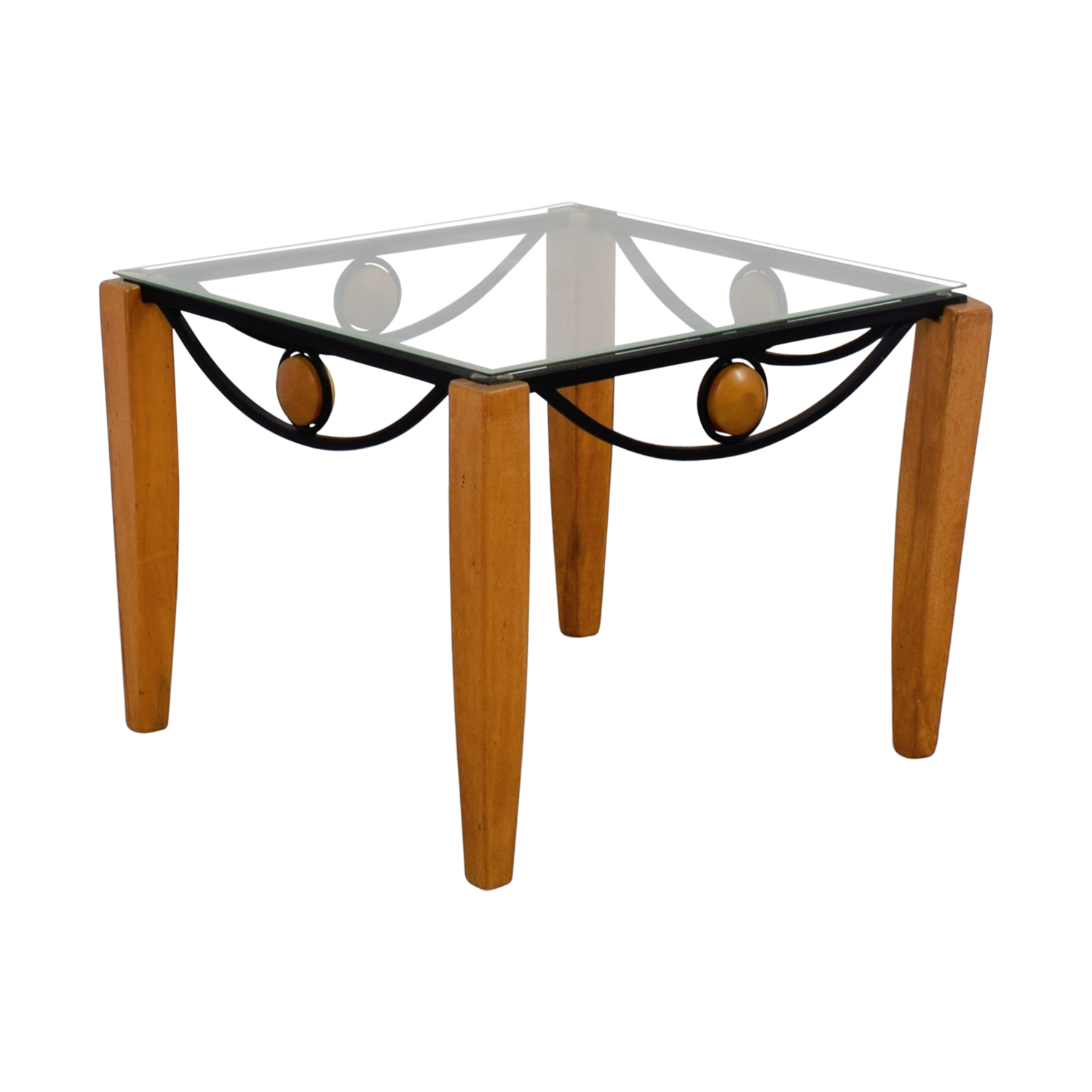 90 off metal and wood end table tables. Black Bedroom Furniture Sets. Home Design Ideas