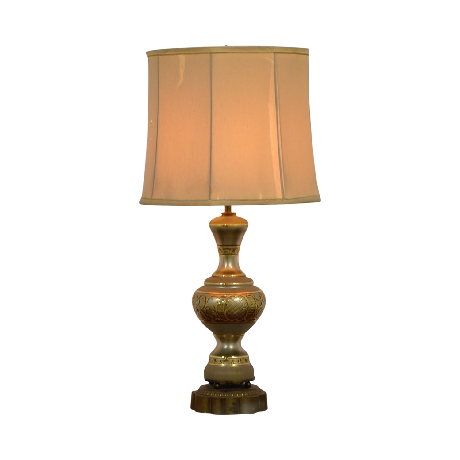 Mid Century Vintage Gold Table Lamp discount
