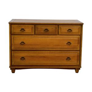 shop Mid Century Vintage Five-Drawer Oak Dresser