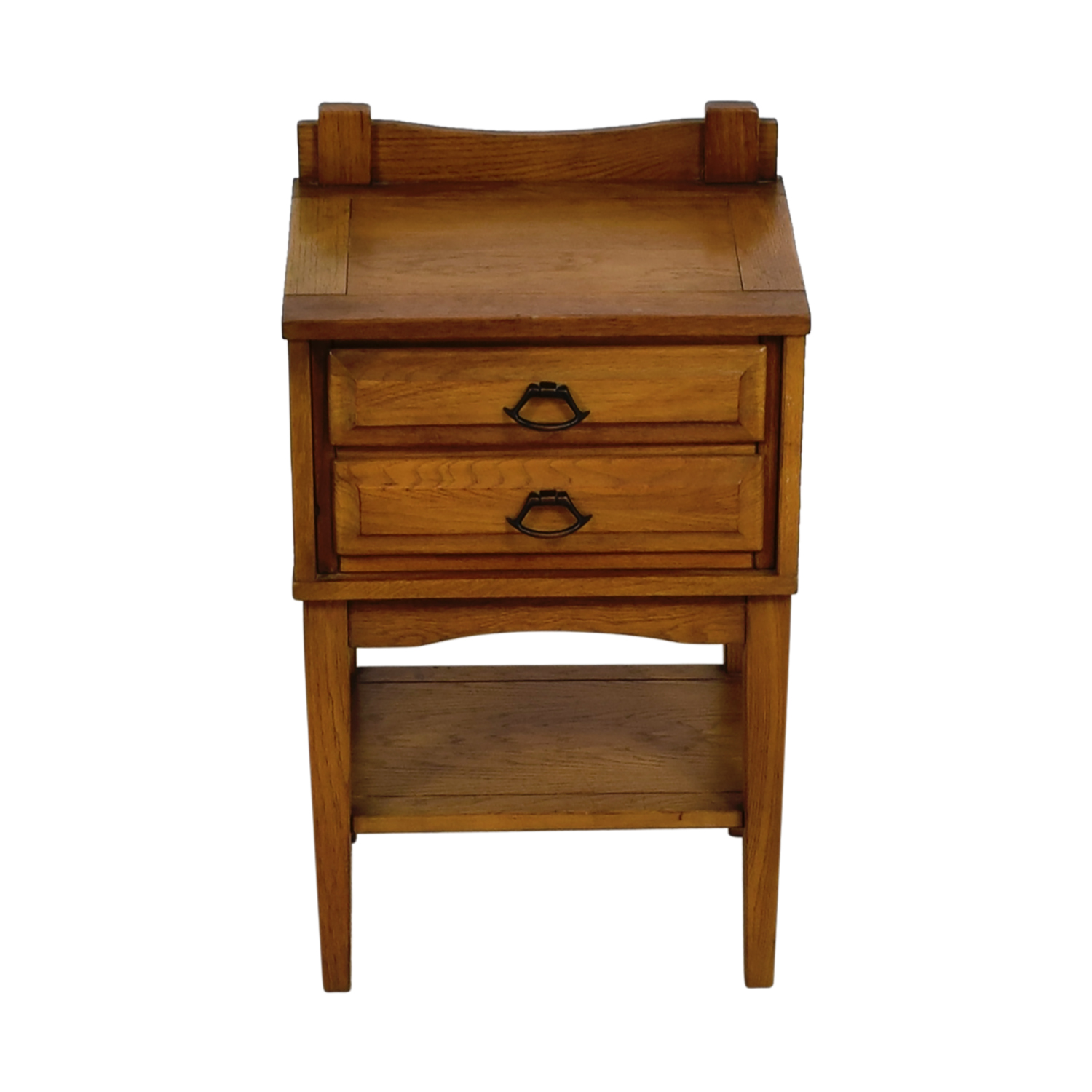 Mid Century Vintage Solid Oak Three Drawer Night Stand price