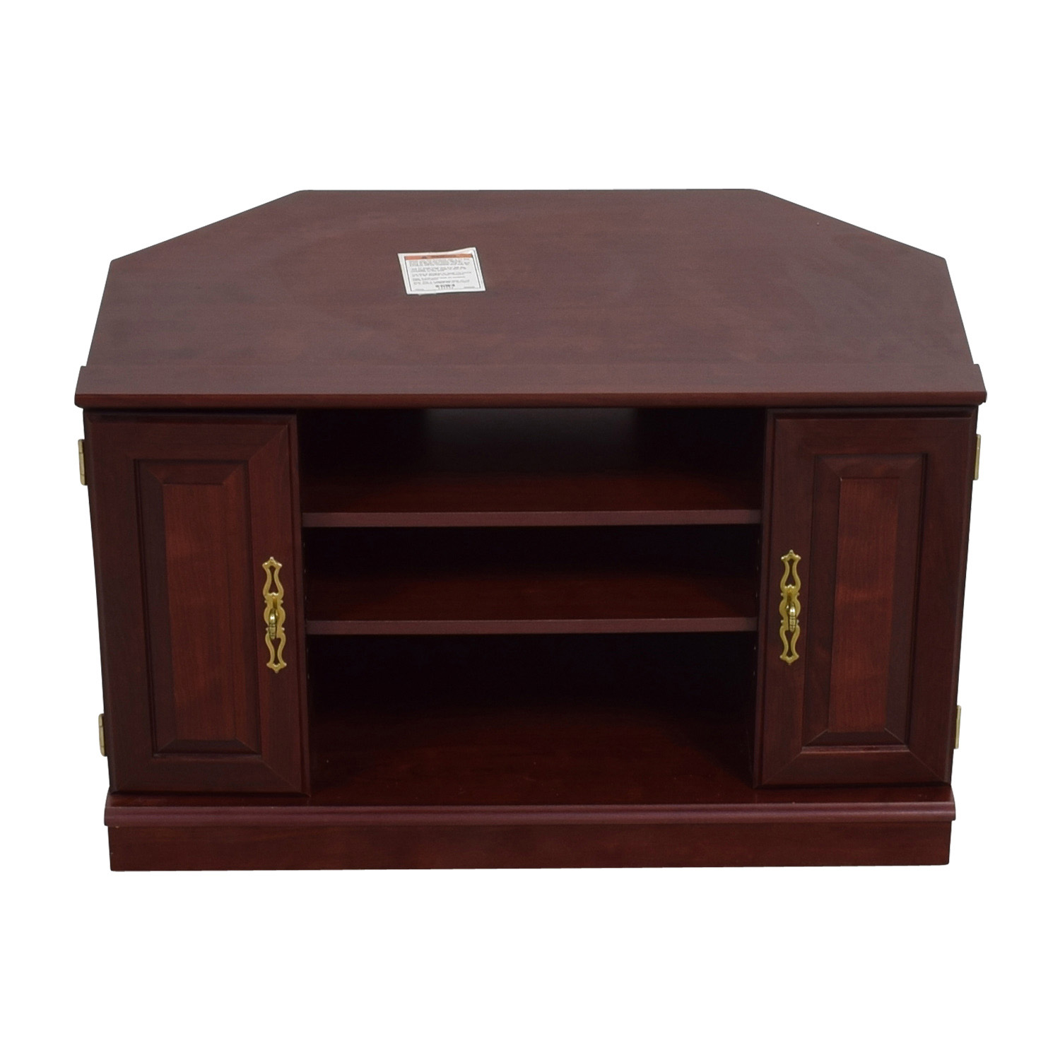 shop Contemporary Mahogany TV Stand Storage