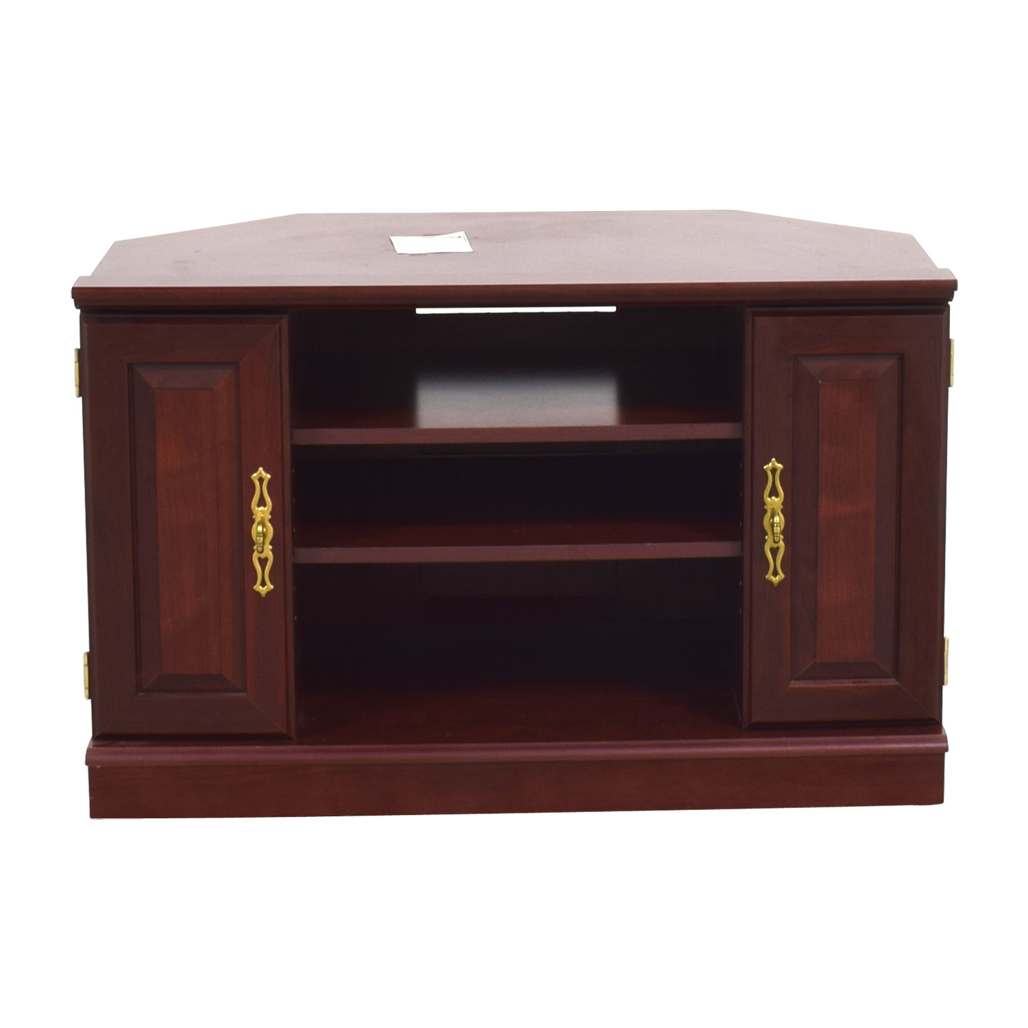 Contemporary Mahogany TV Stand