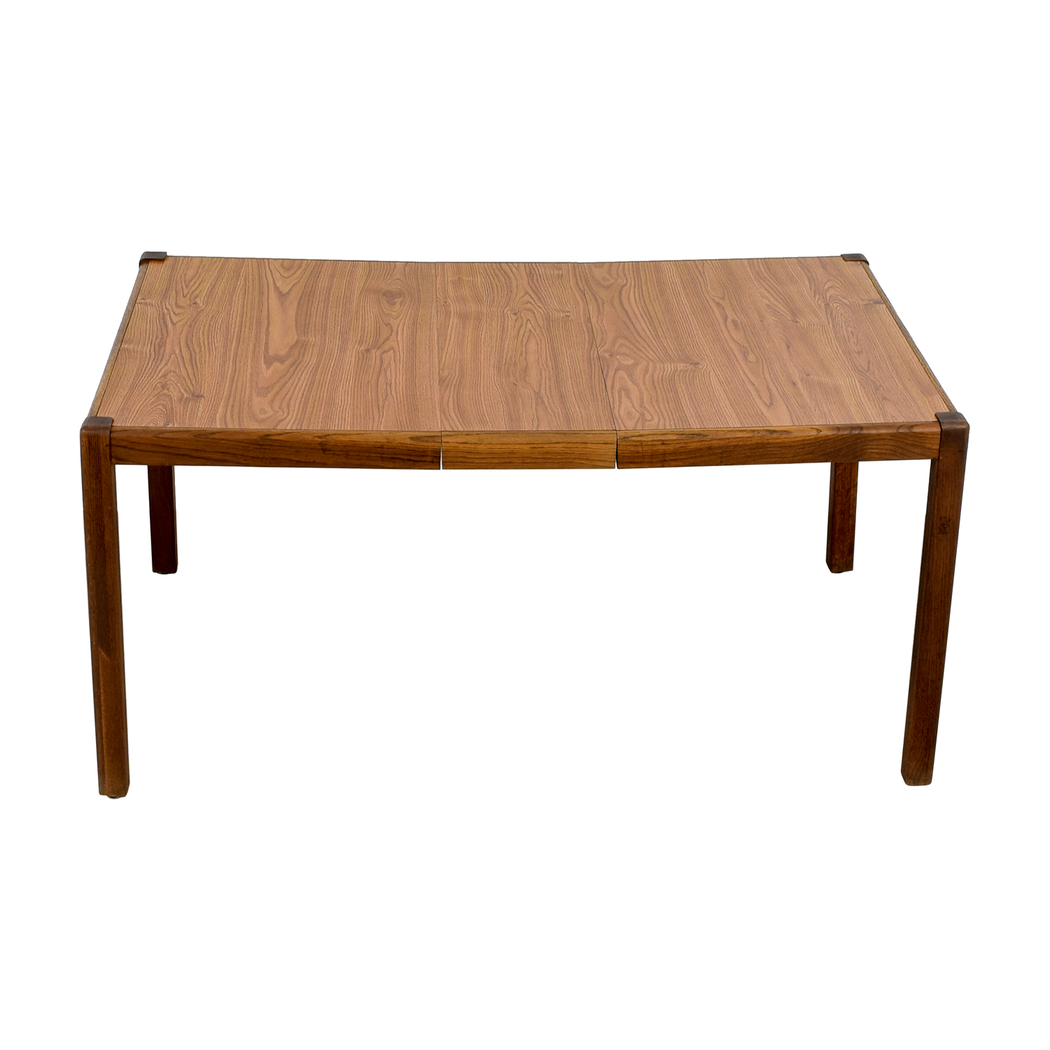 Oak Base with Veneer Top Expanding Dining Table dimensions