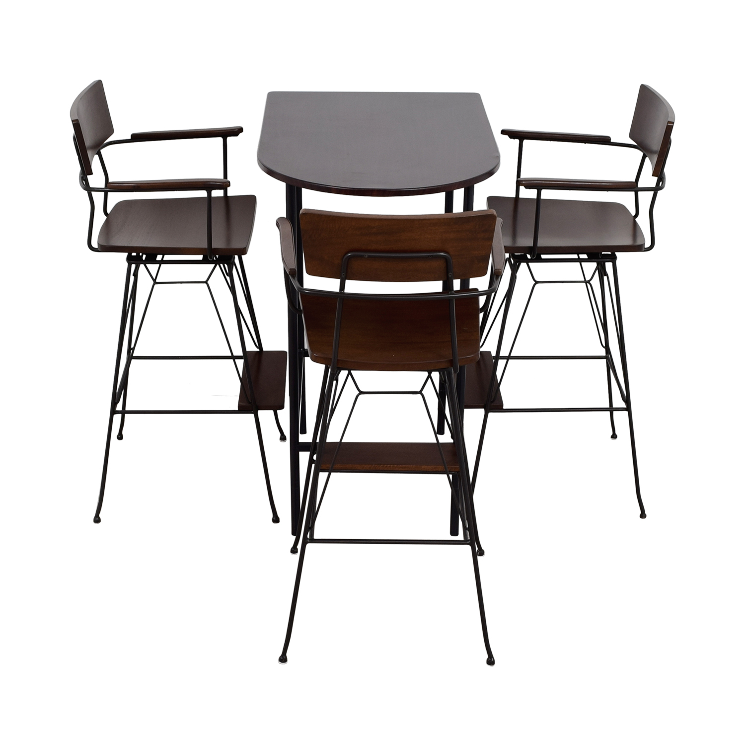 Crate & Barrel Crate & Barrel Pub Dining Set Brown