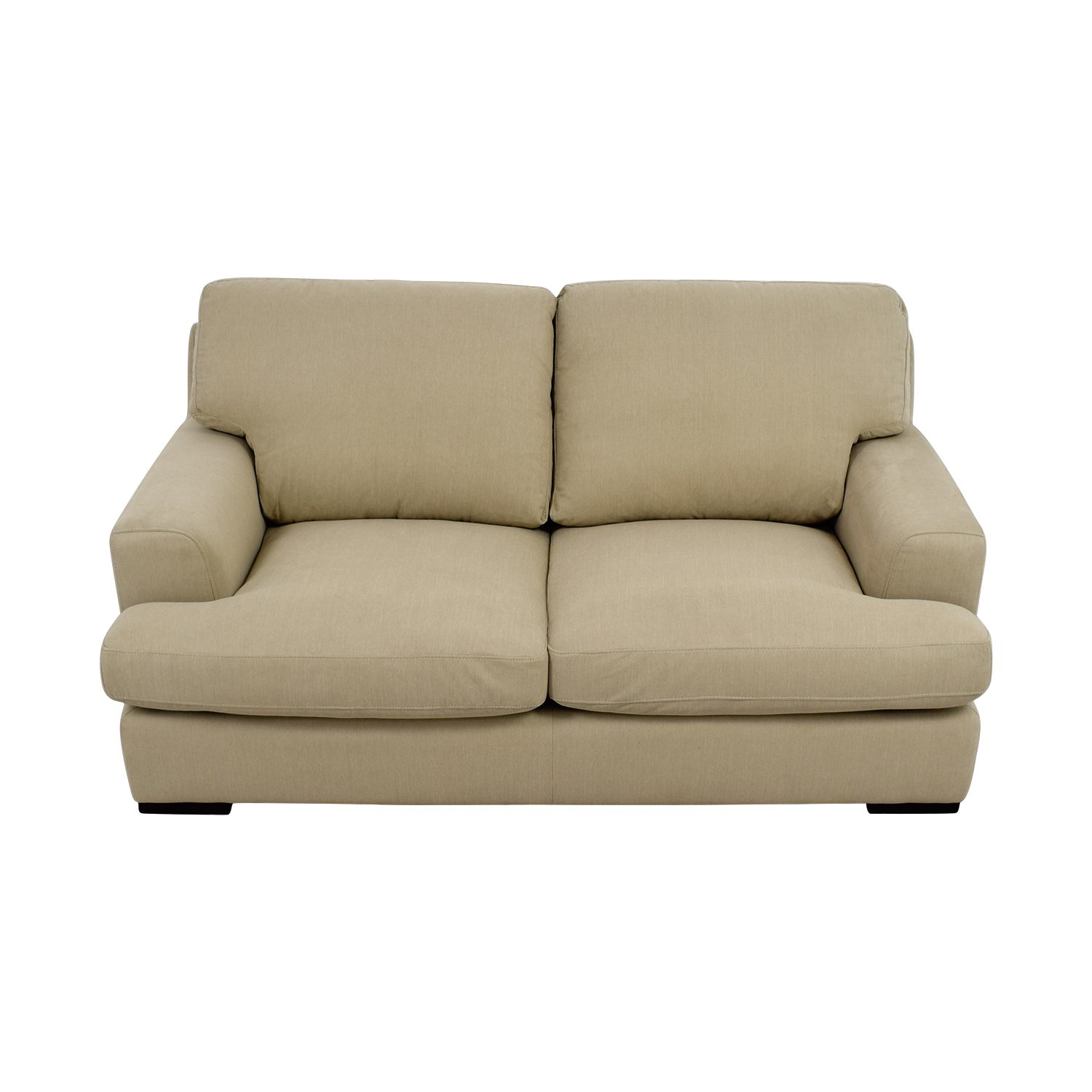 Stone & Beam Stone & Beam Lauren Down Filled Overstuffed Fawn Loveseat on sale