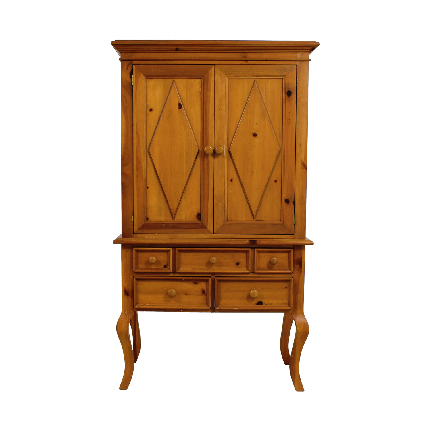 Broyhill Broyhill Wood Armoir with Shelves and Drawers on sale