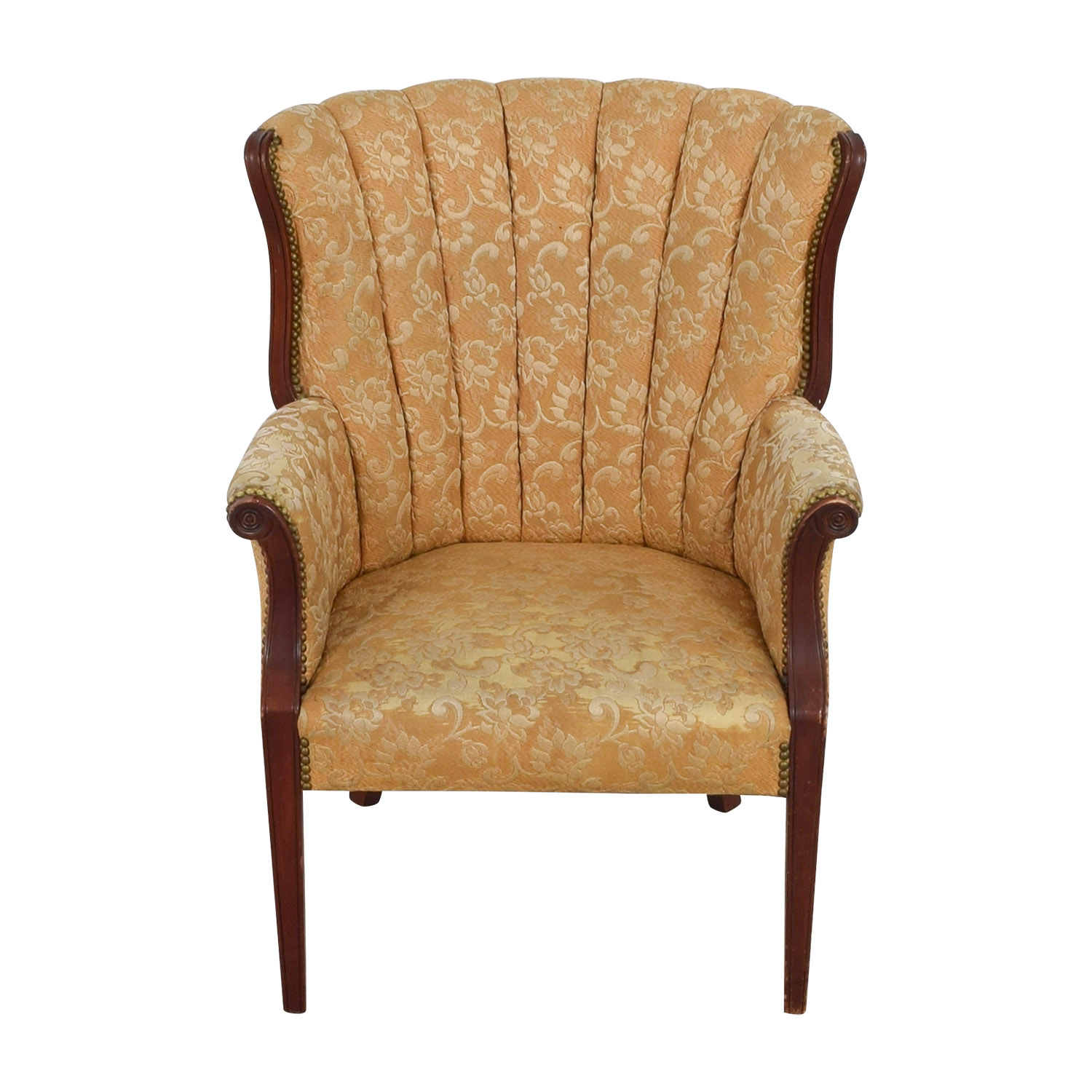 ... buy Antique Indigo Yellow Wingback Accent Chair Accent Chairs ... - 73% OFF - Antique Indigo Yellow Wingback Accent Chair / Chairs