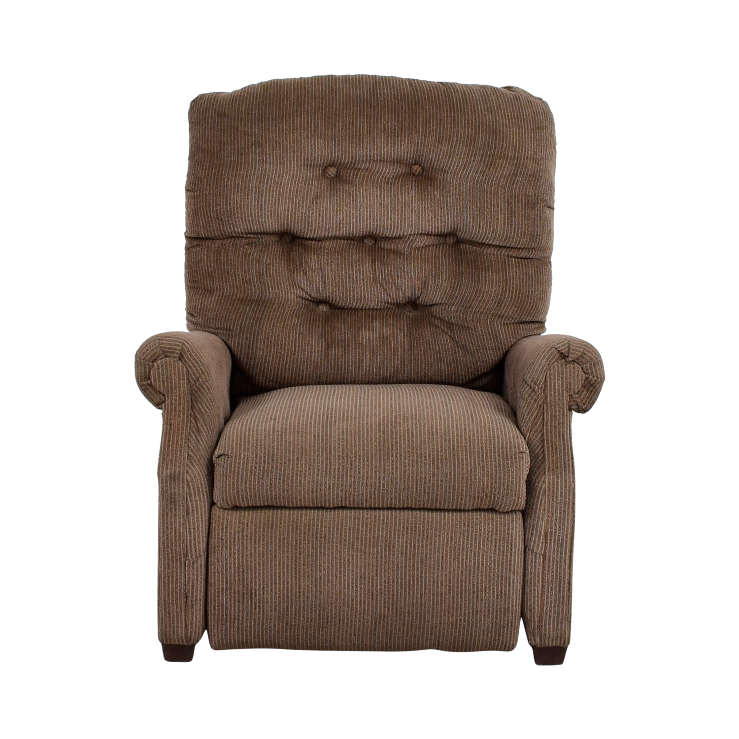 Tan and Grey Cloth Recliner Chairs