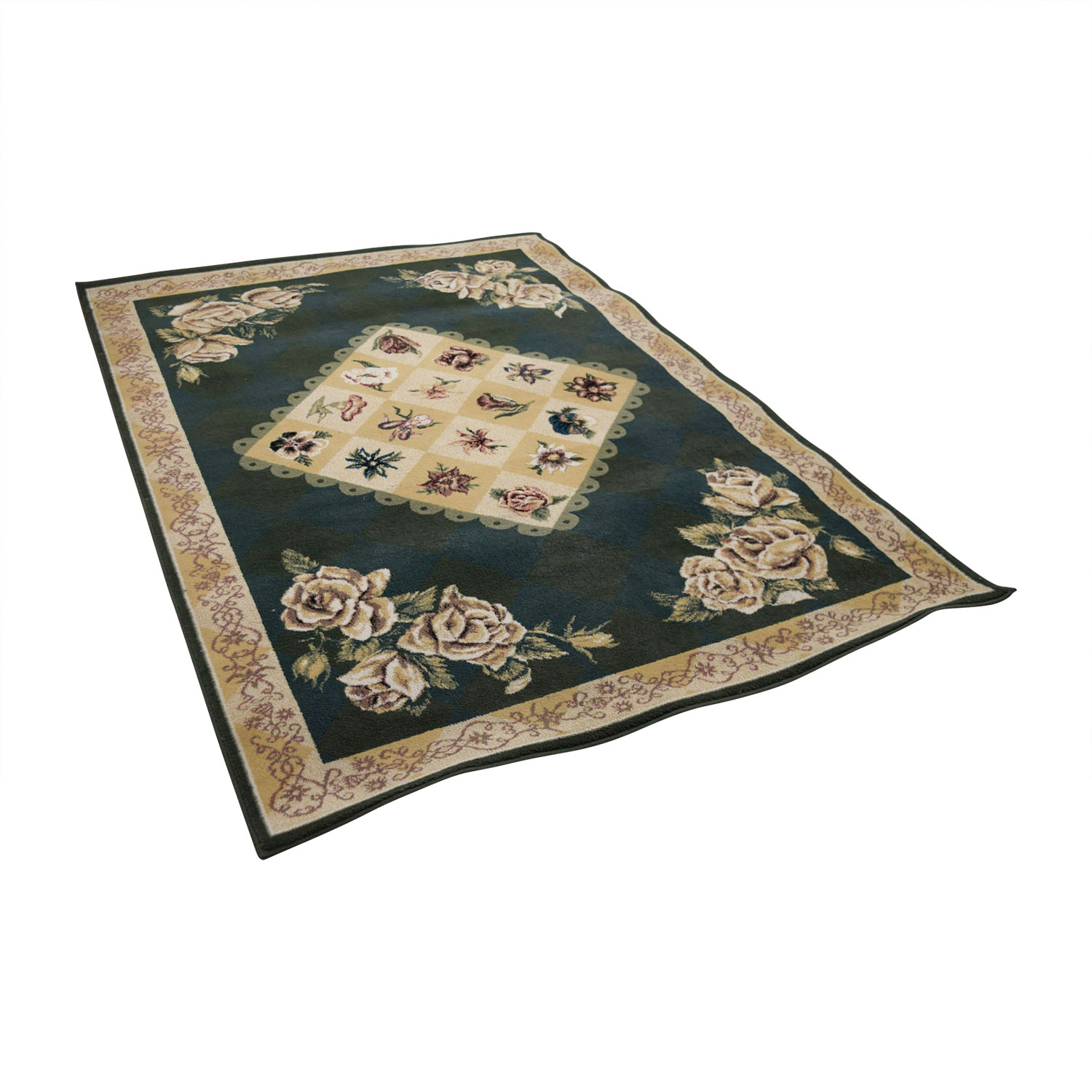 Tracy Porter by Shaw Rugs Green and Beige Floral Rug Tracy Porter by Shaw Rugs
