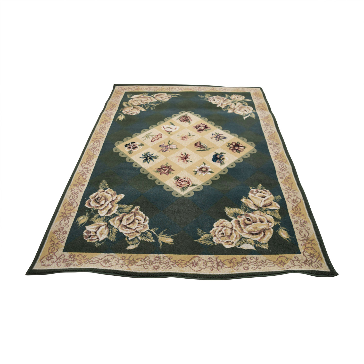 Tracy Porter by Shaw Rugs Tracy Porter by Shaw Rugs Green and Beige Floral Rug