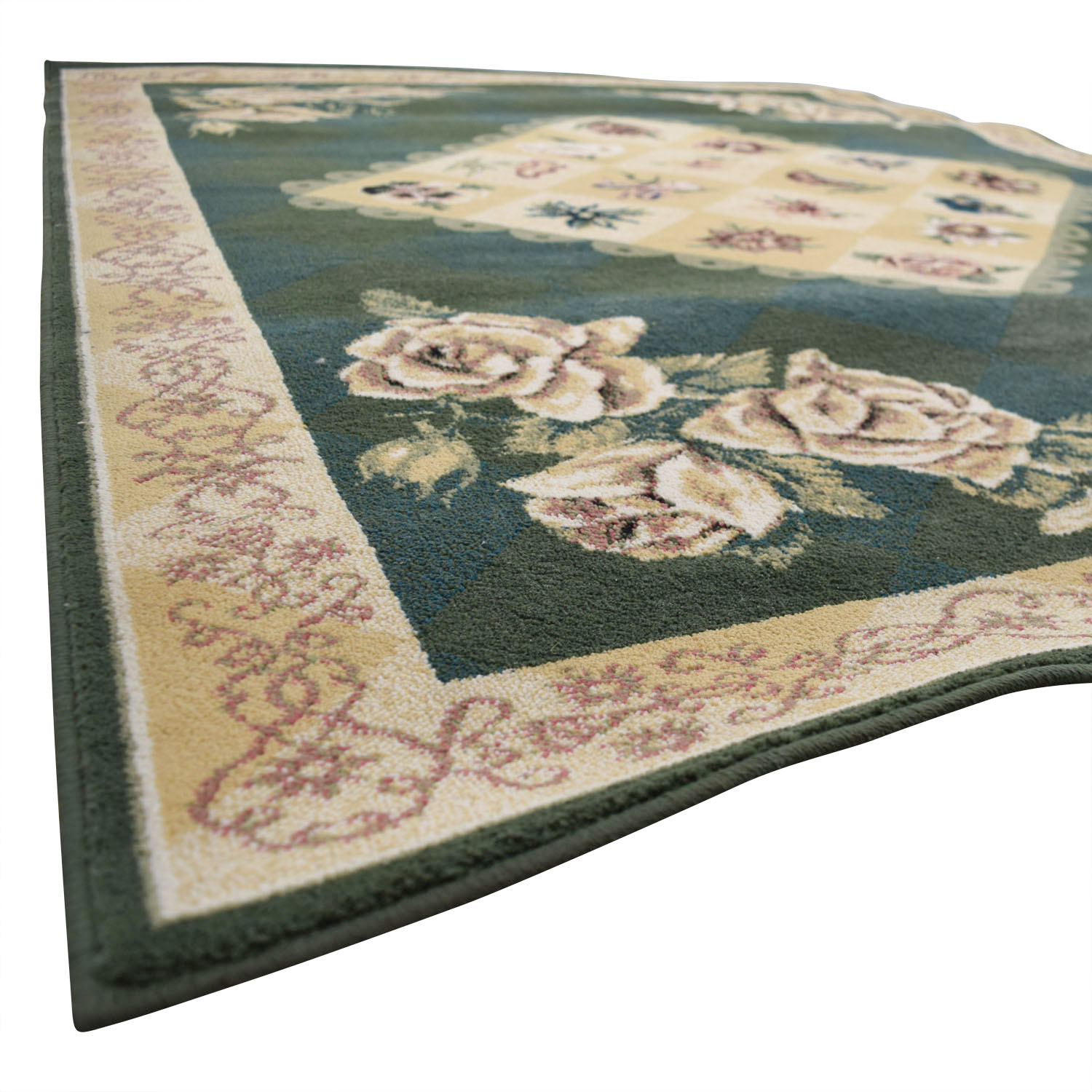 Tracy Porter by Shaw Rugs Tracy Porter by Shaw Rugs Green and Beige Floral Rug price