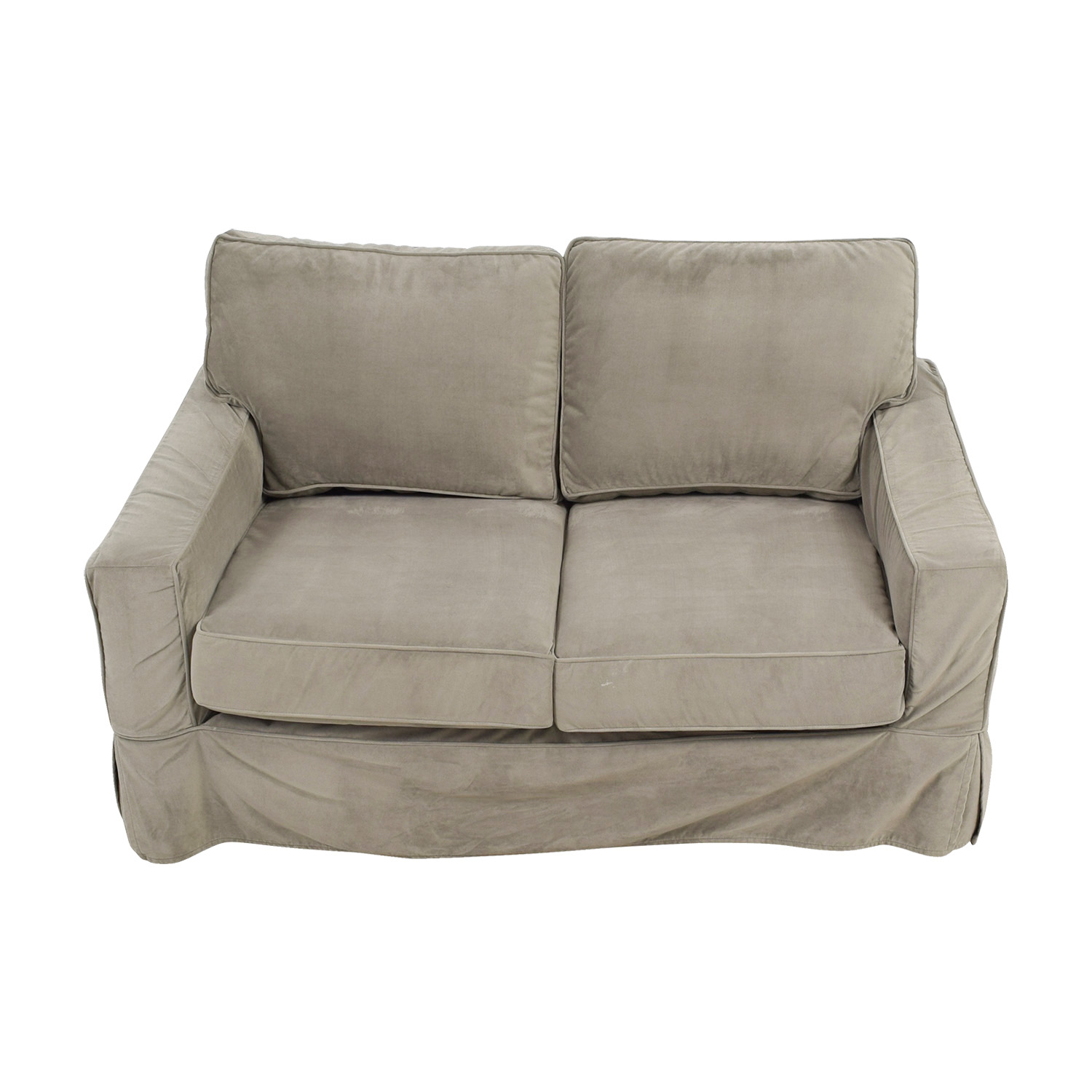 Pottery Barn Pottery Barn Grey Comfort Square Arm Loveseat discount