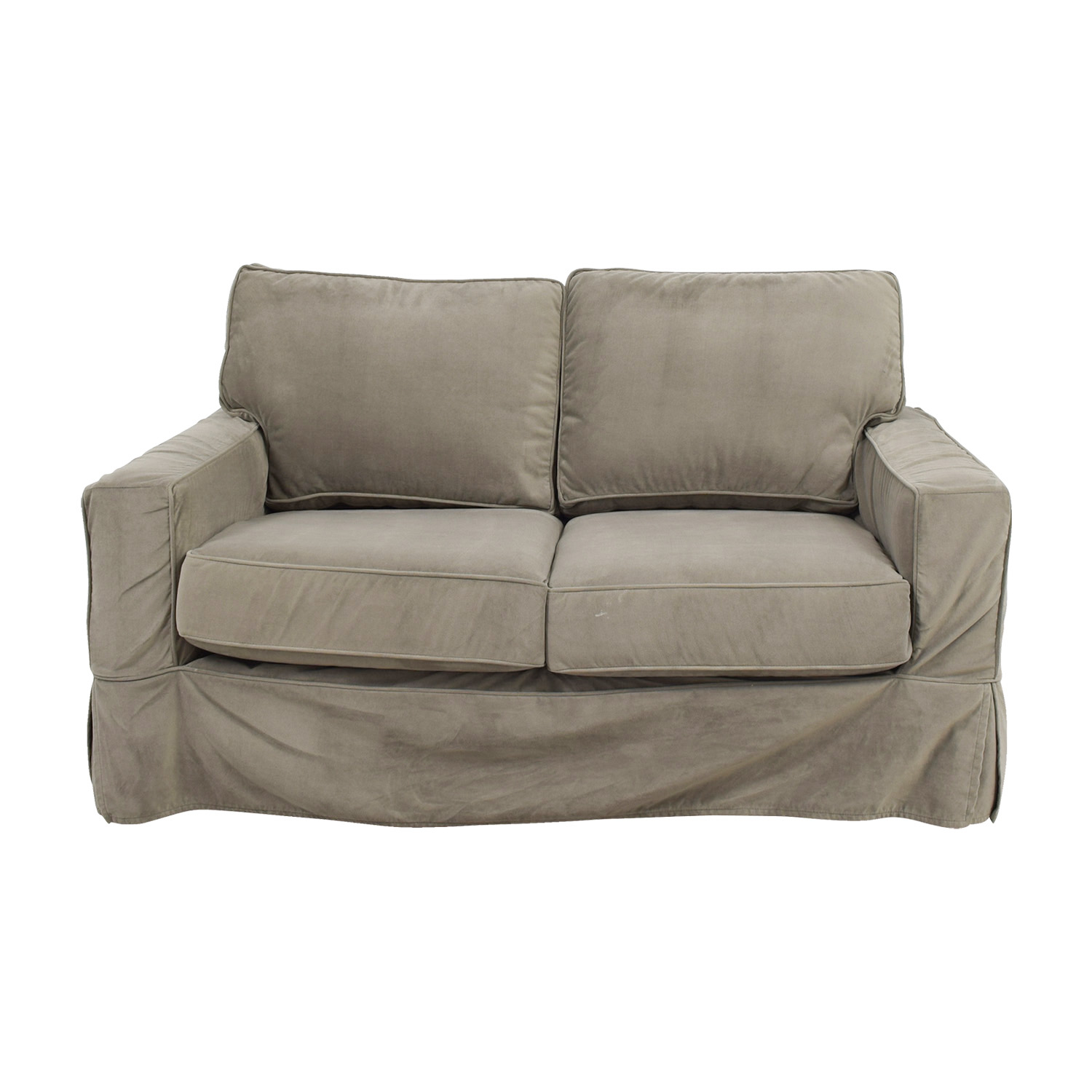 Pottery Barn Grey Comfort Square Arm Loveseat