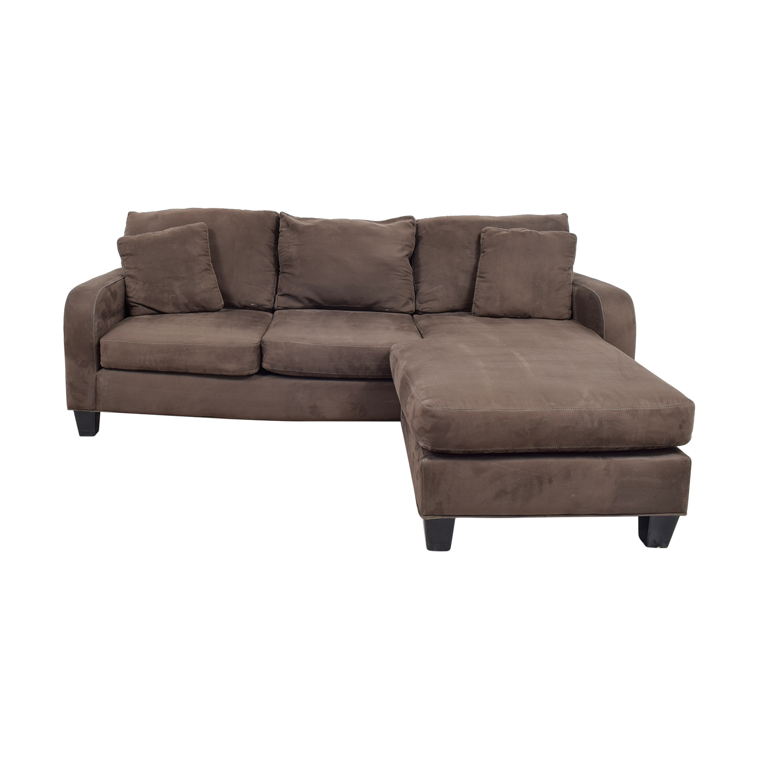 Sectionals used sectionals for sale for Brown chaise sofa